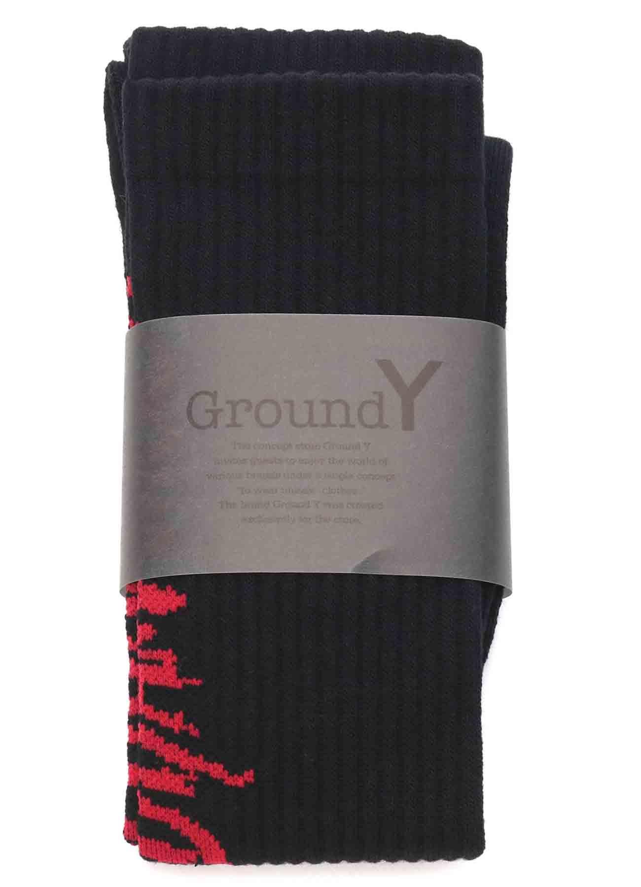 Rib High Socks Yohji Yamamoto Logo