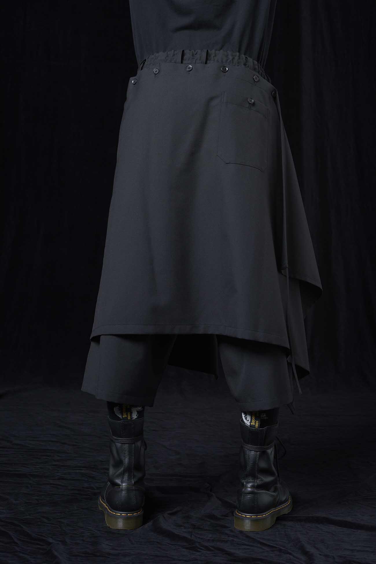 T/W Gabardine Detachable Skirt Pants