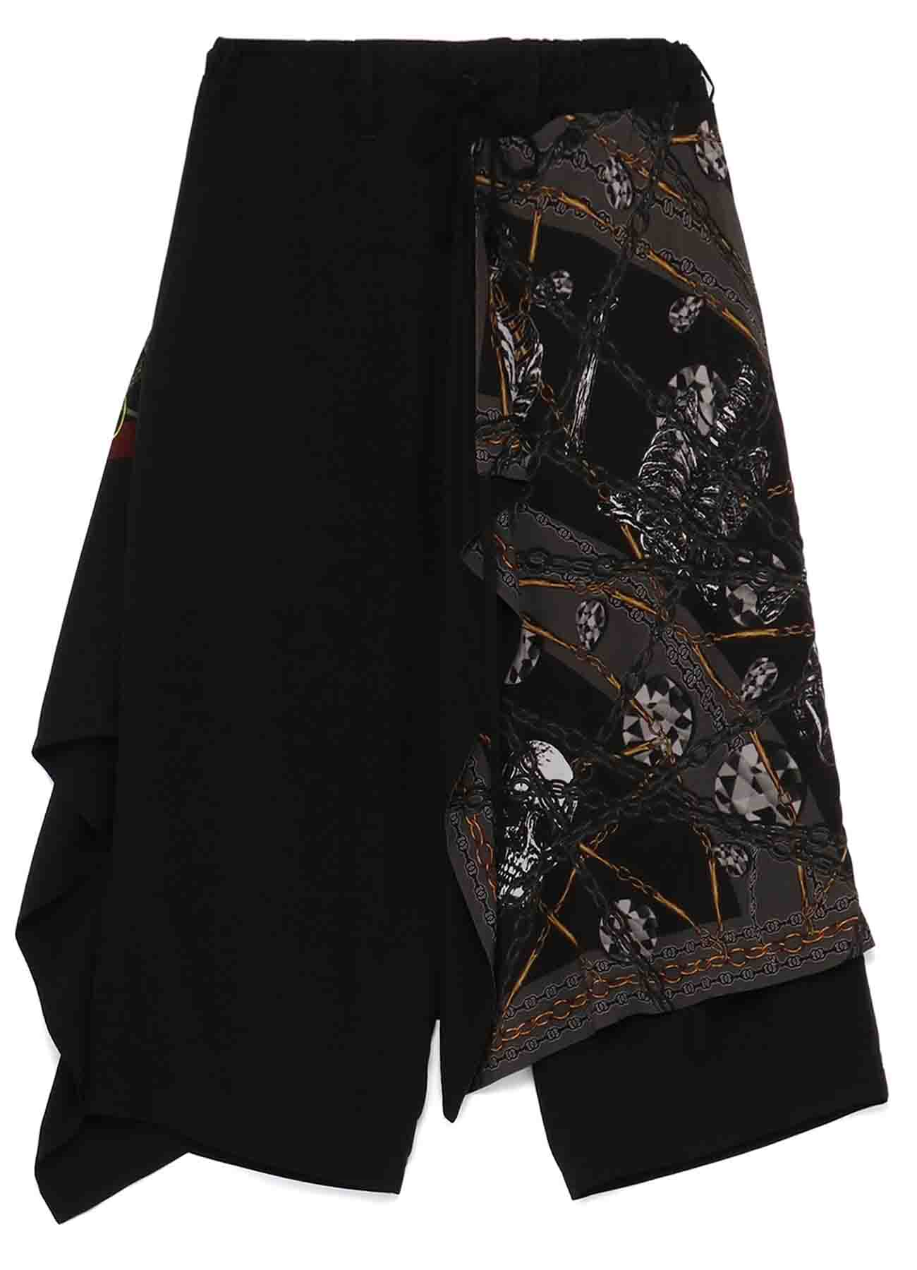 Rayon Bandana Pattern A Detachable Skirt Pants