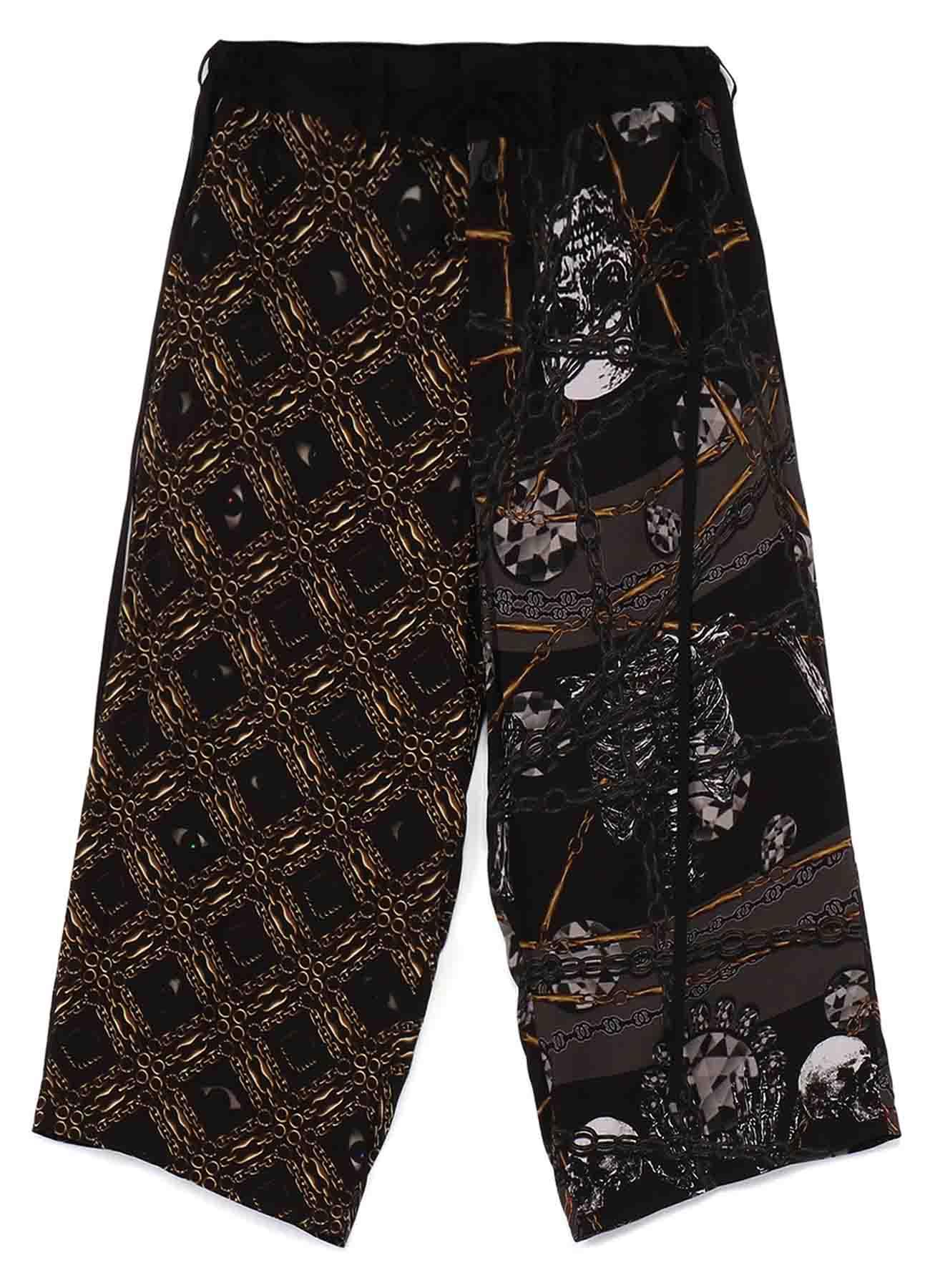 Rayon Bandana Pattern E Detachable Skirt Pants