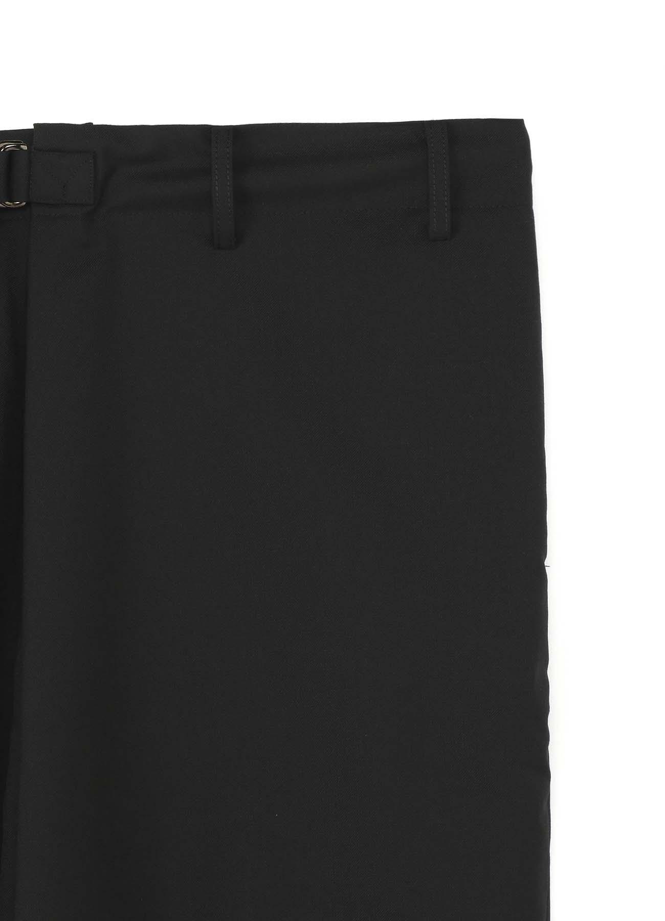 T/W Gabardine Wrap Saruel Rib Pants