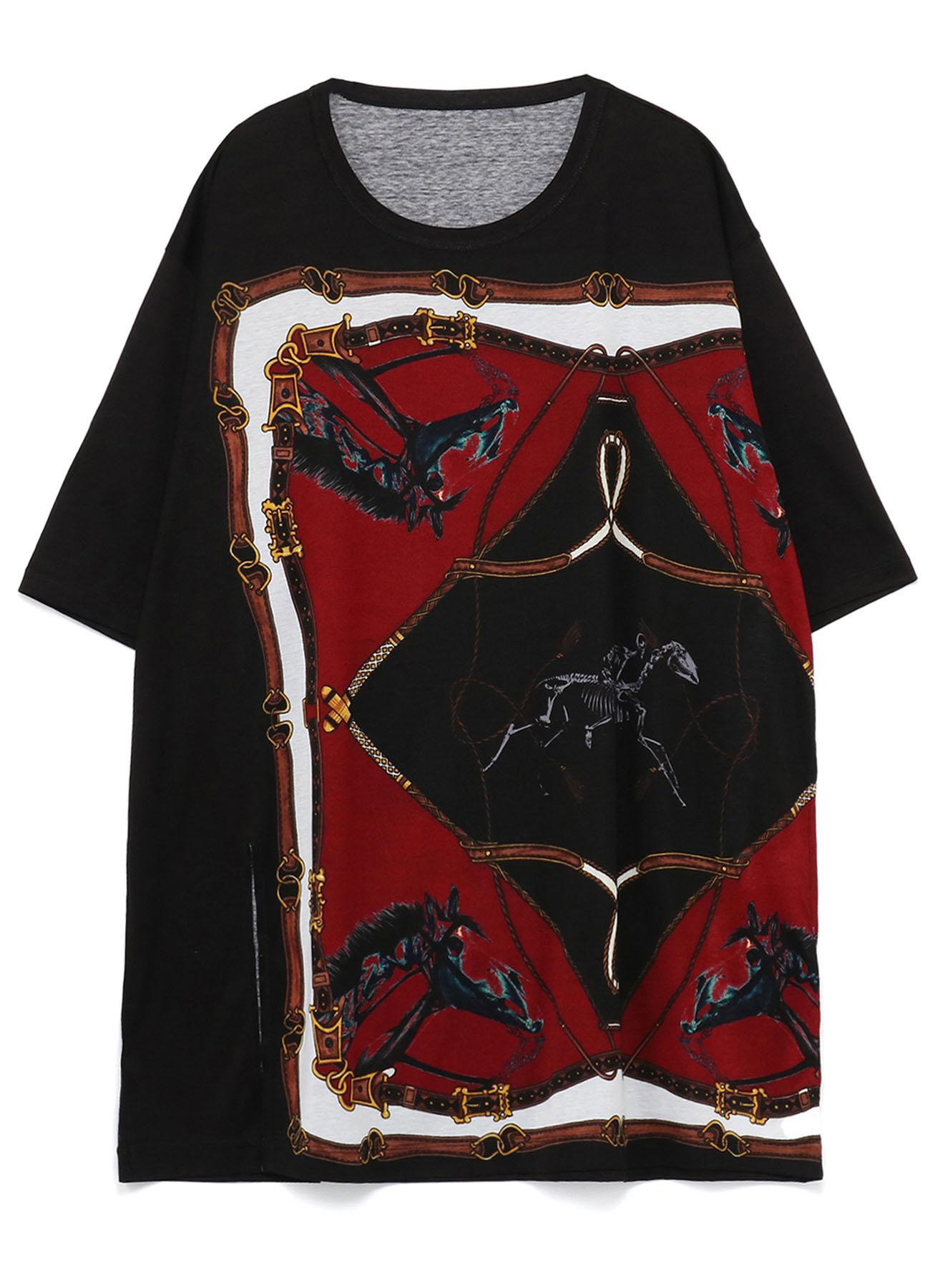 Bandana Pattern C Cotton Jersey Jumbo Short Sleeves Cut Sew