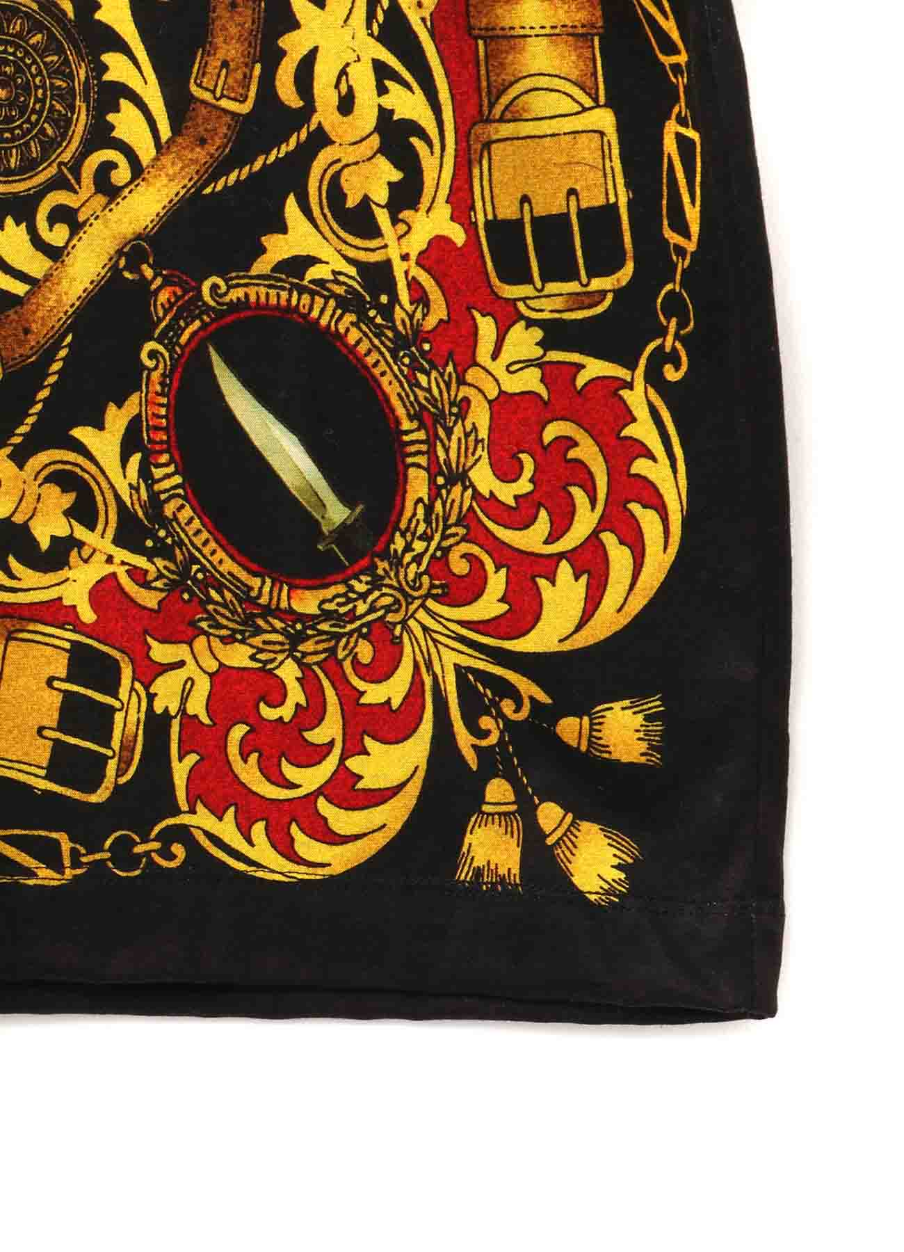 Bandana Pattern D Cotton Jersey Jumbo Long Sleeves Cut Sew