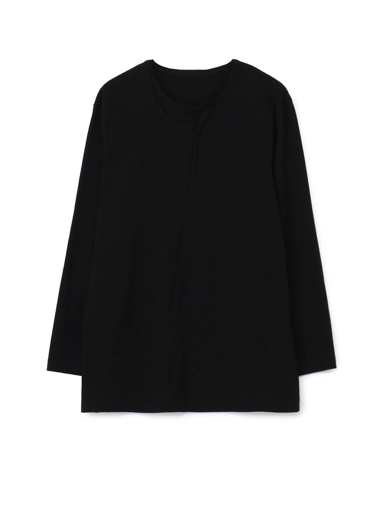 30/Cotton Jersey Collar Deformed Long Sleeves Cut Sew