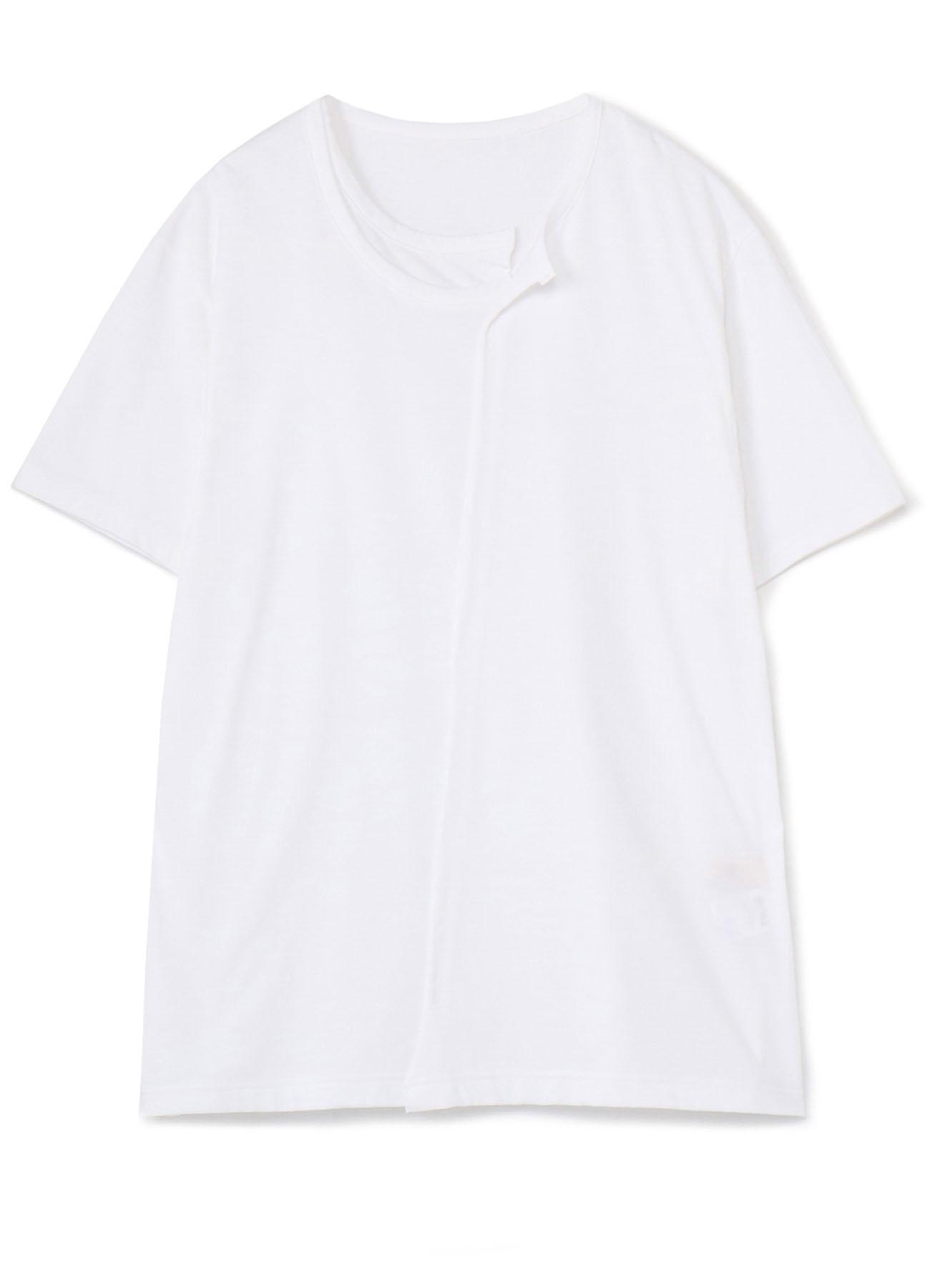 30/Cotton Jersey Collar Deformed Short Sleeves Cut Sew