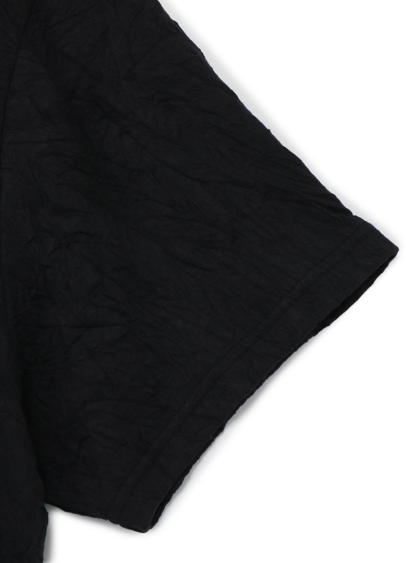 C/Pe Washer Jersey Collar Deformed Short Sleeves Cut Sew