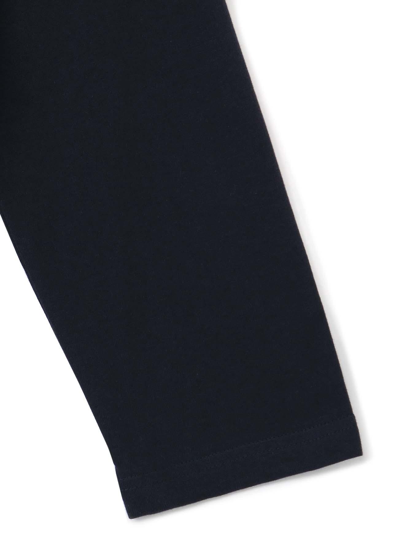 30/Cotton Jersey Asymmetric Zipper Long Sleeves Cut Sew