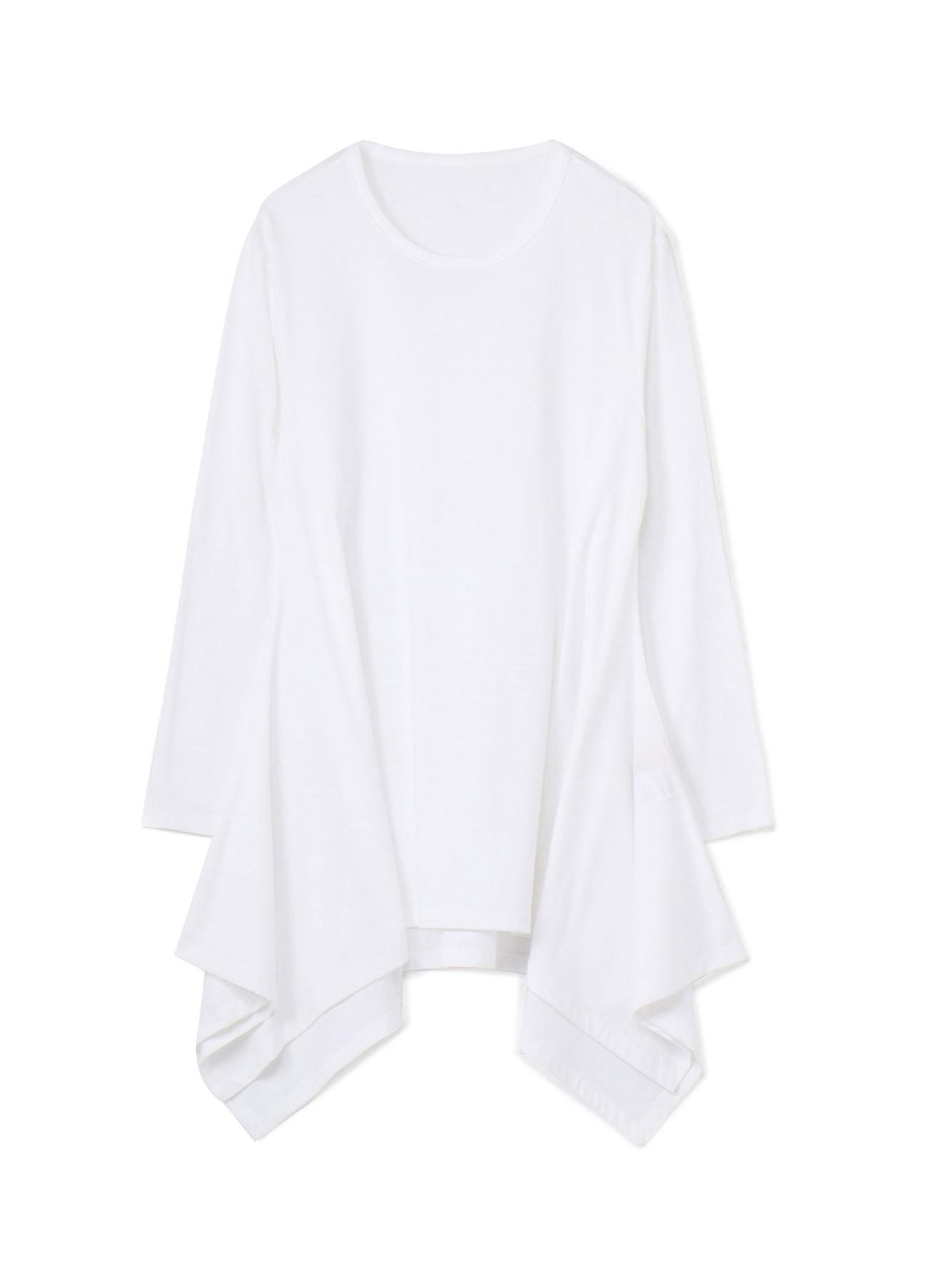 30/Cotton Jersey U-neck Drape Long Sleeves Cut Sew