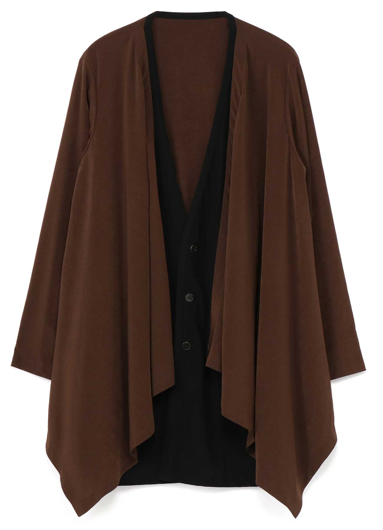 T/A Vintage Decyne Combination Layered Drape Cardigan