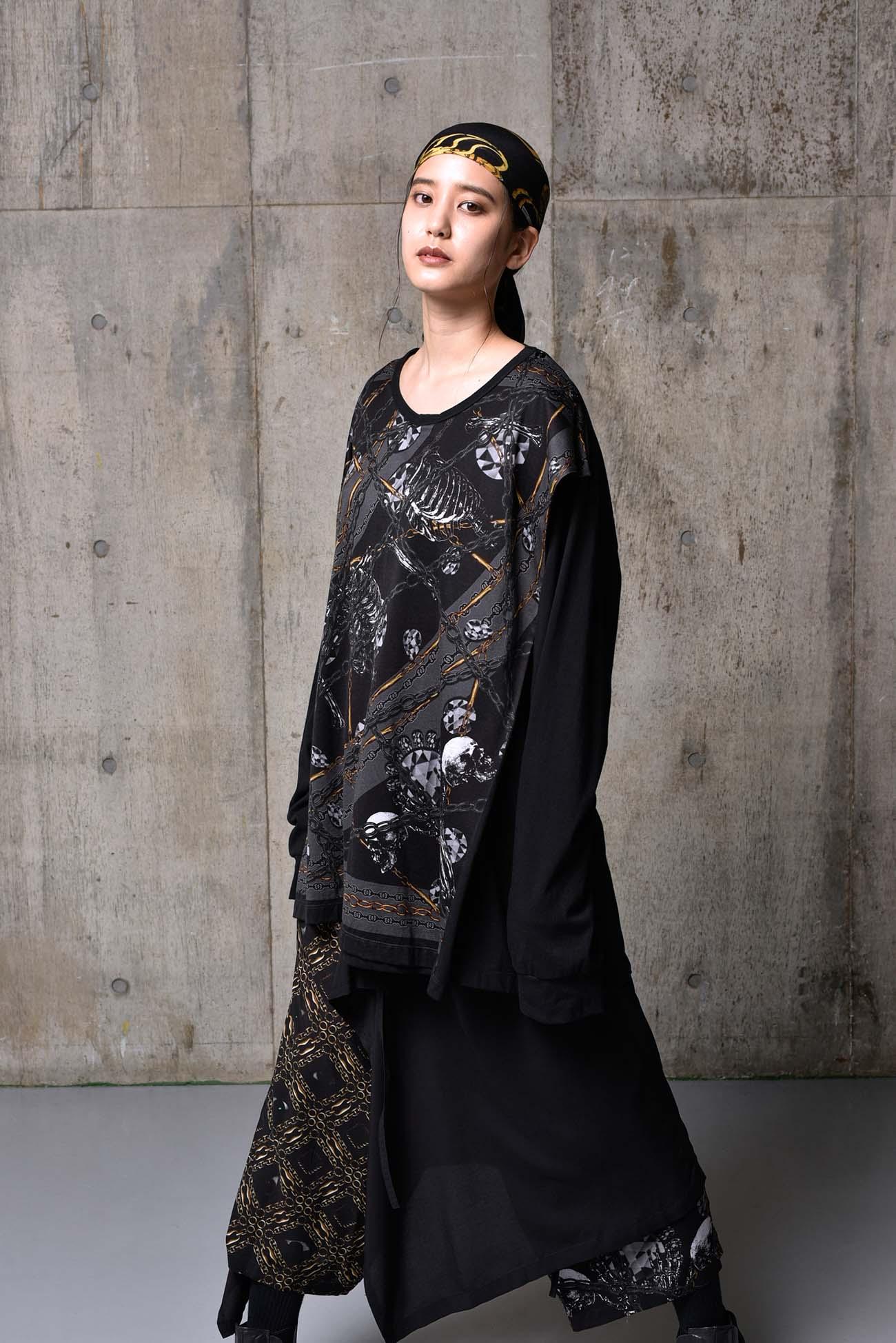 Bandana Pattern G Cotton Jersey 3way Drape Cut Sew