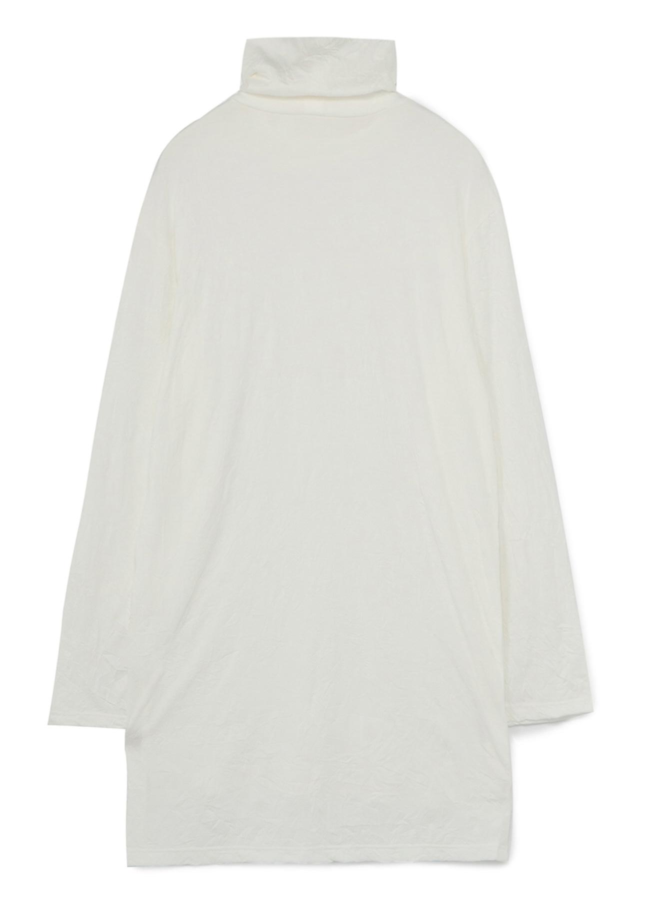 C/Pe Washer Jersey Button Opened Big Turtleneck Cut Sew