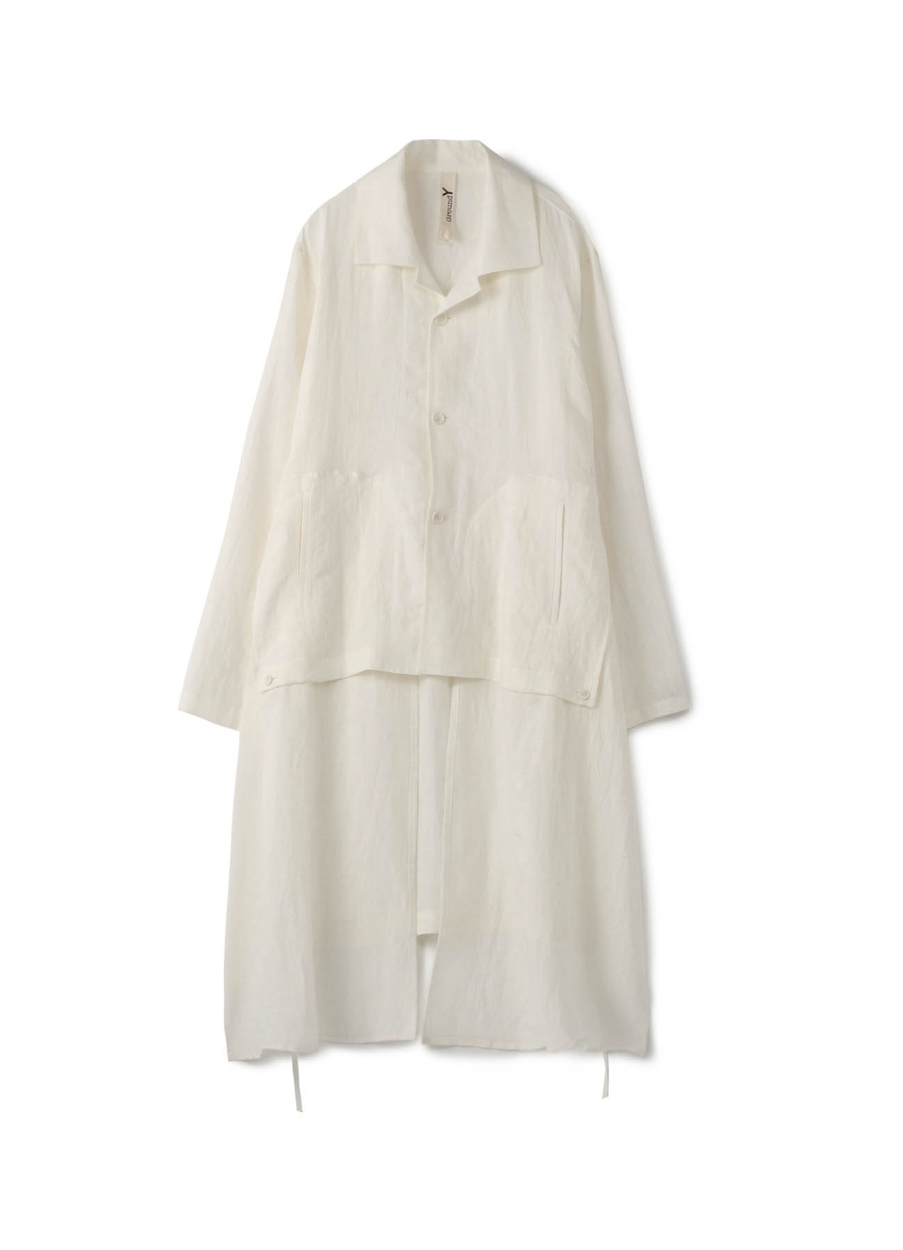 Linen Cross Big Sack-cloth Shirt