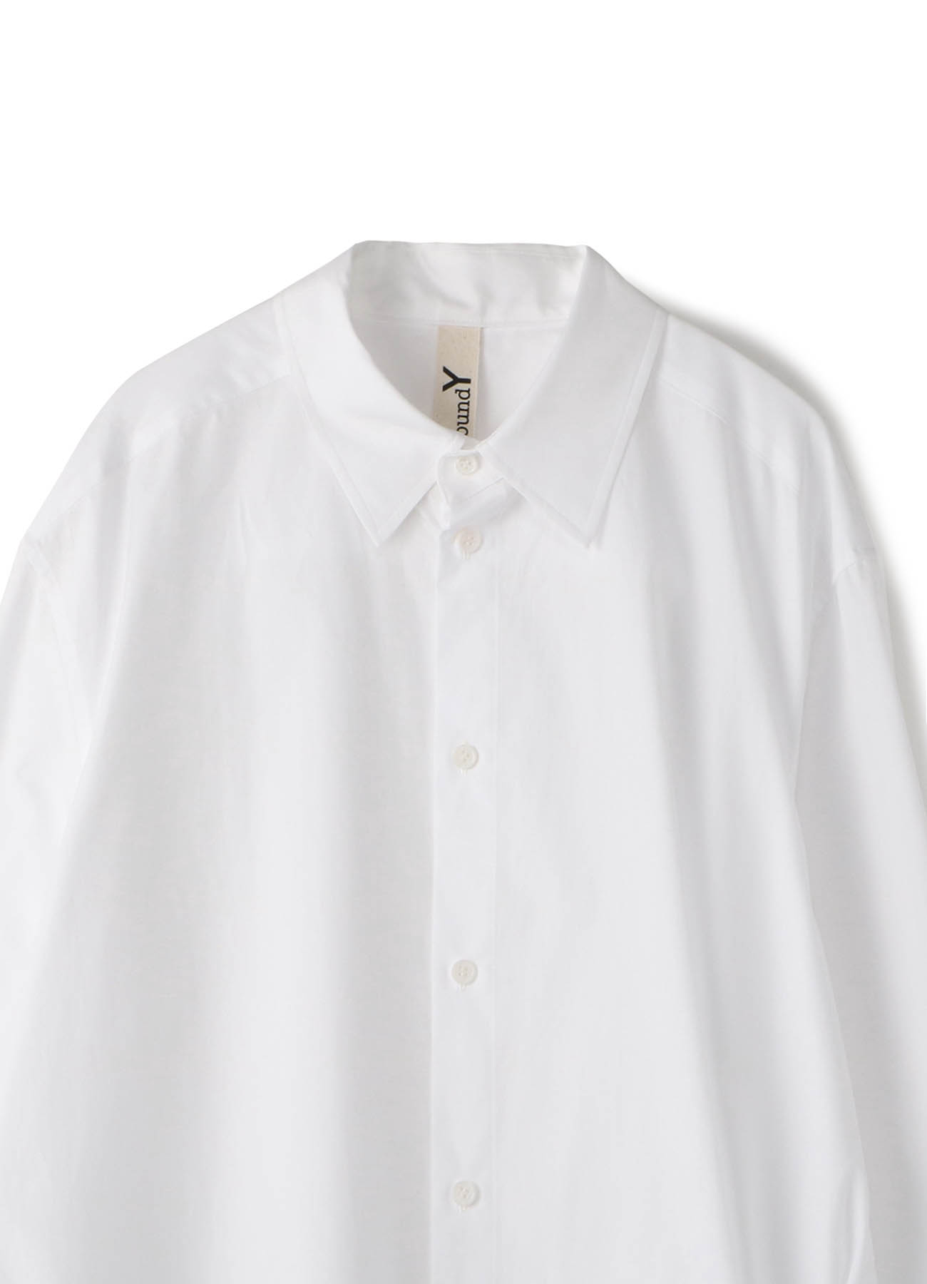 参差下摆宽松长袖衬衫