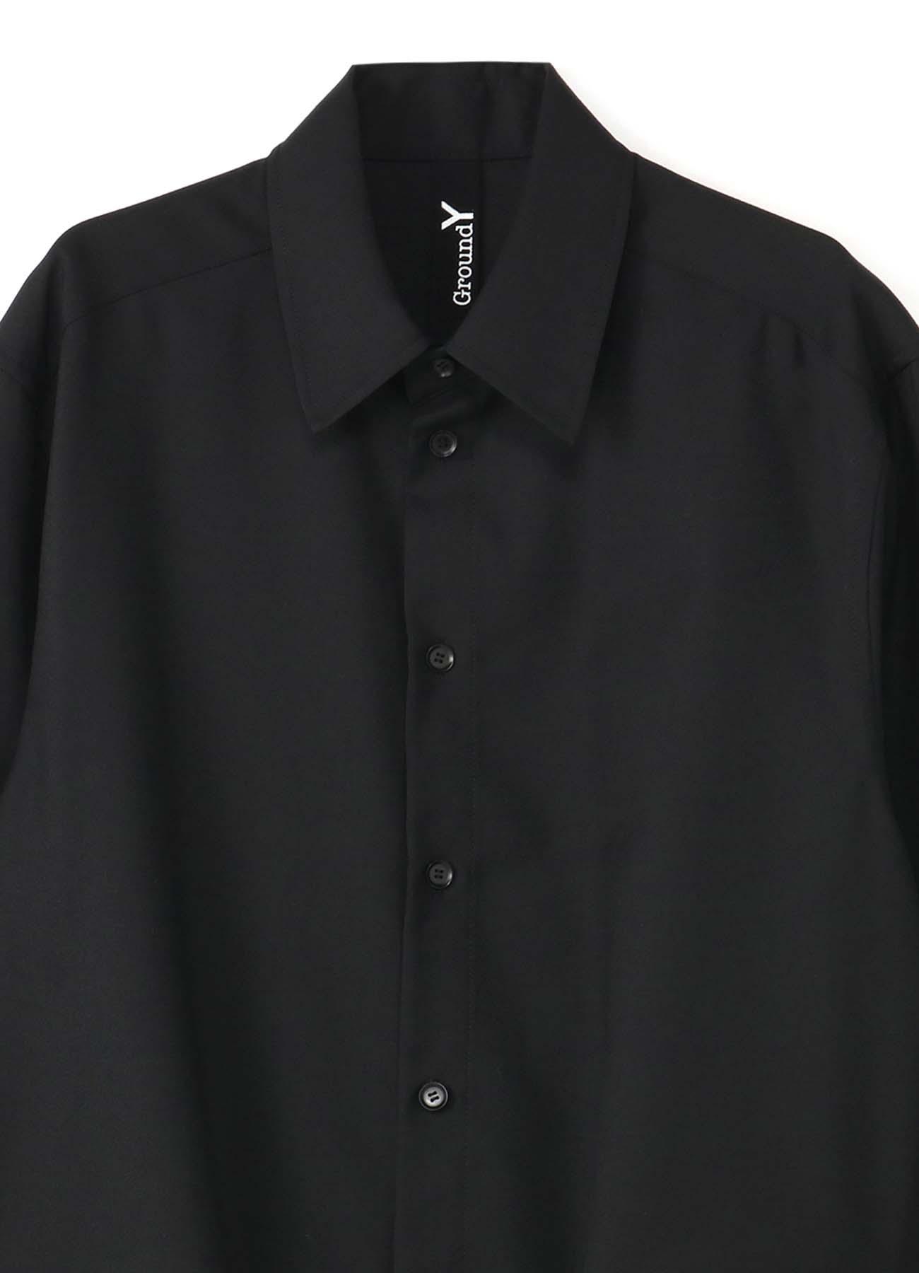 T/W Gabardine Gather Drape Shirt