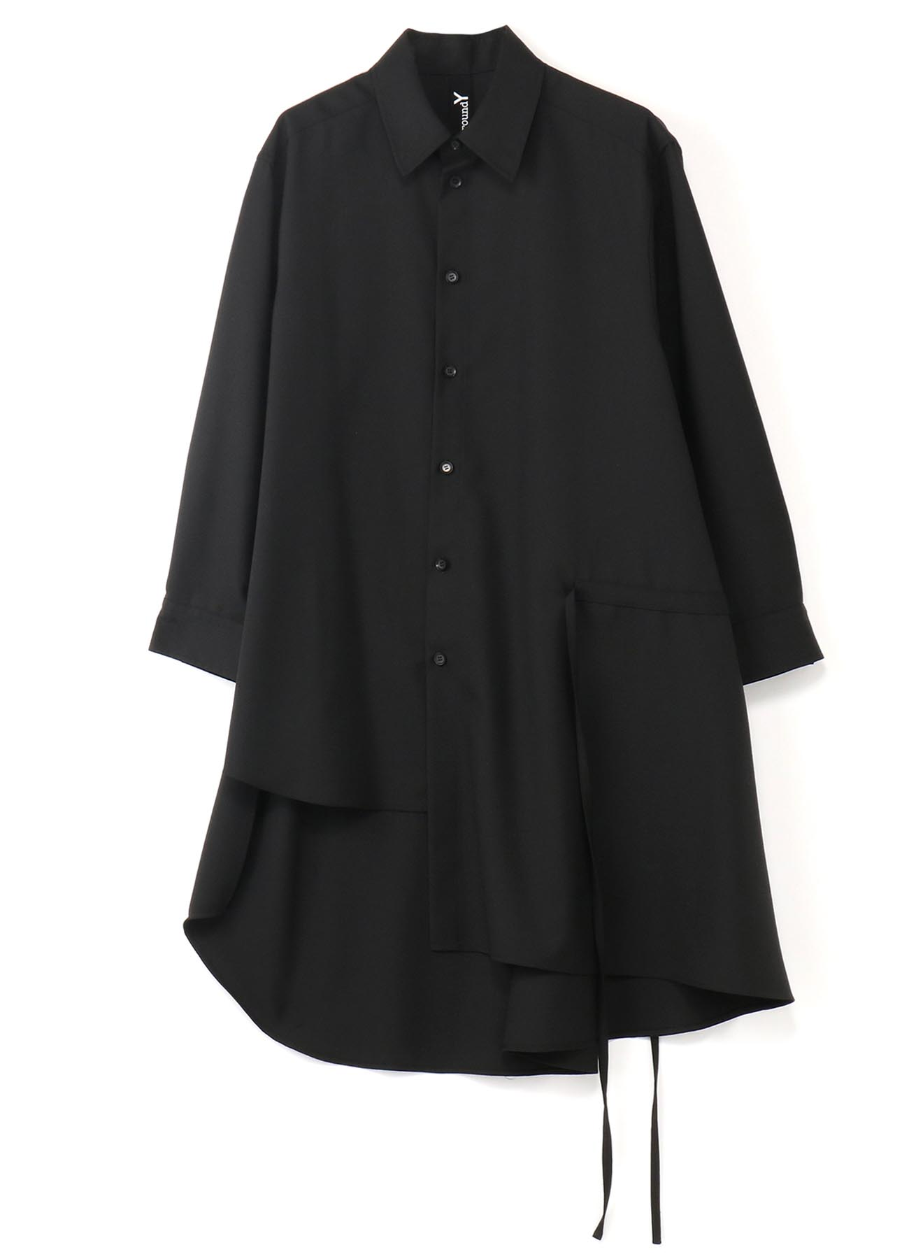 T/W Gabardine Gather Drape Shirt