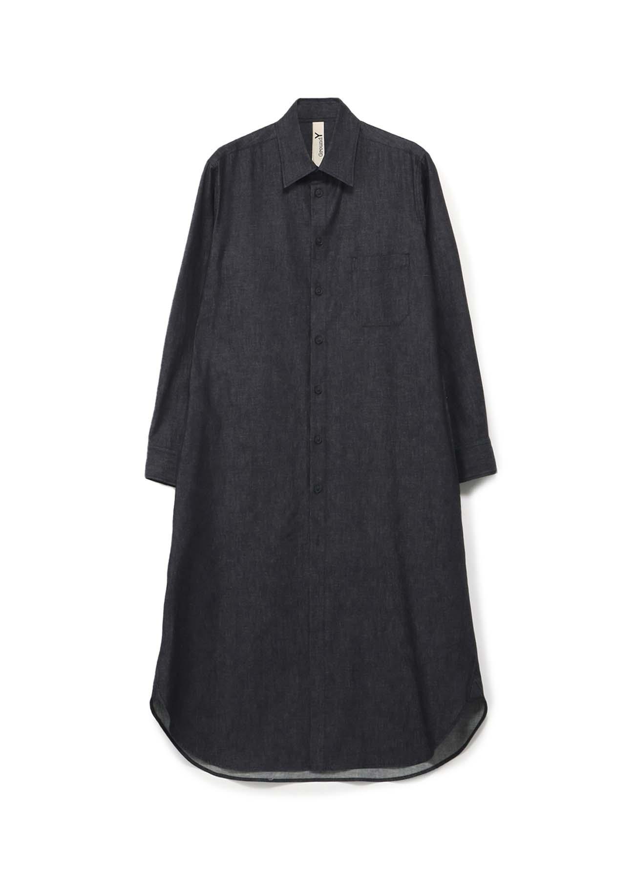 6oz Denim Long Shirt Dress