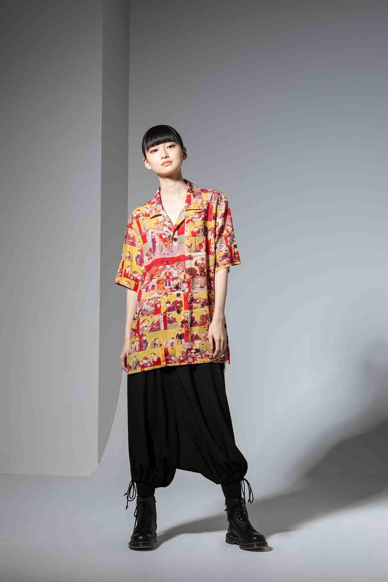 GroundY × 河锅晓斎 联名款短袖衬衫