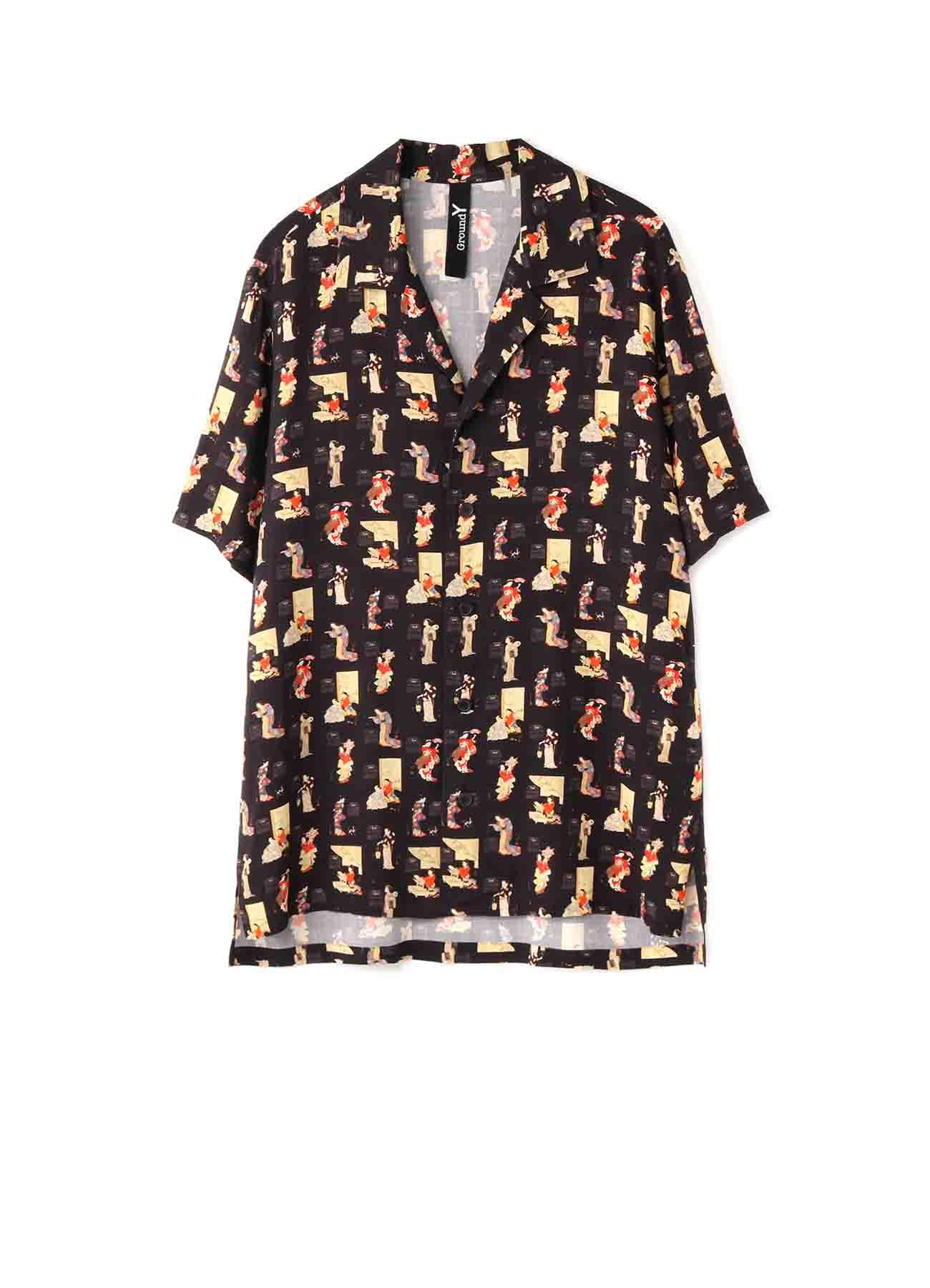 河鍋暁翠「暁翠美人十二ヵ月カレンダー」 Short Sleeves Shirt