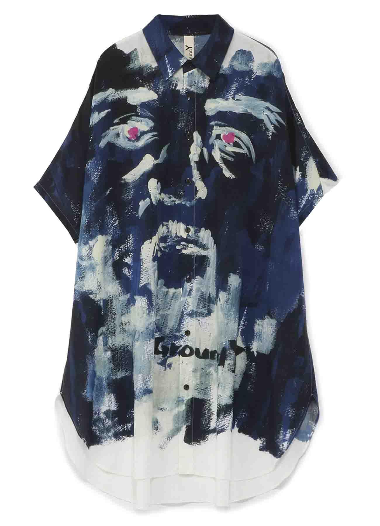 【Ground Y×NON Collaboration】Dolman Short Sleeves Shirt B