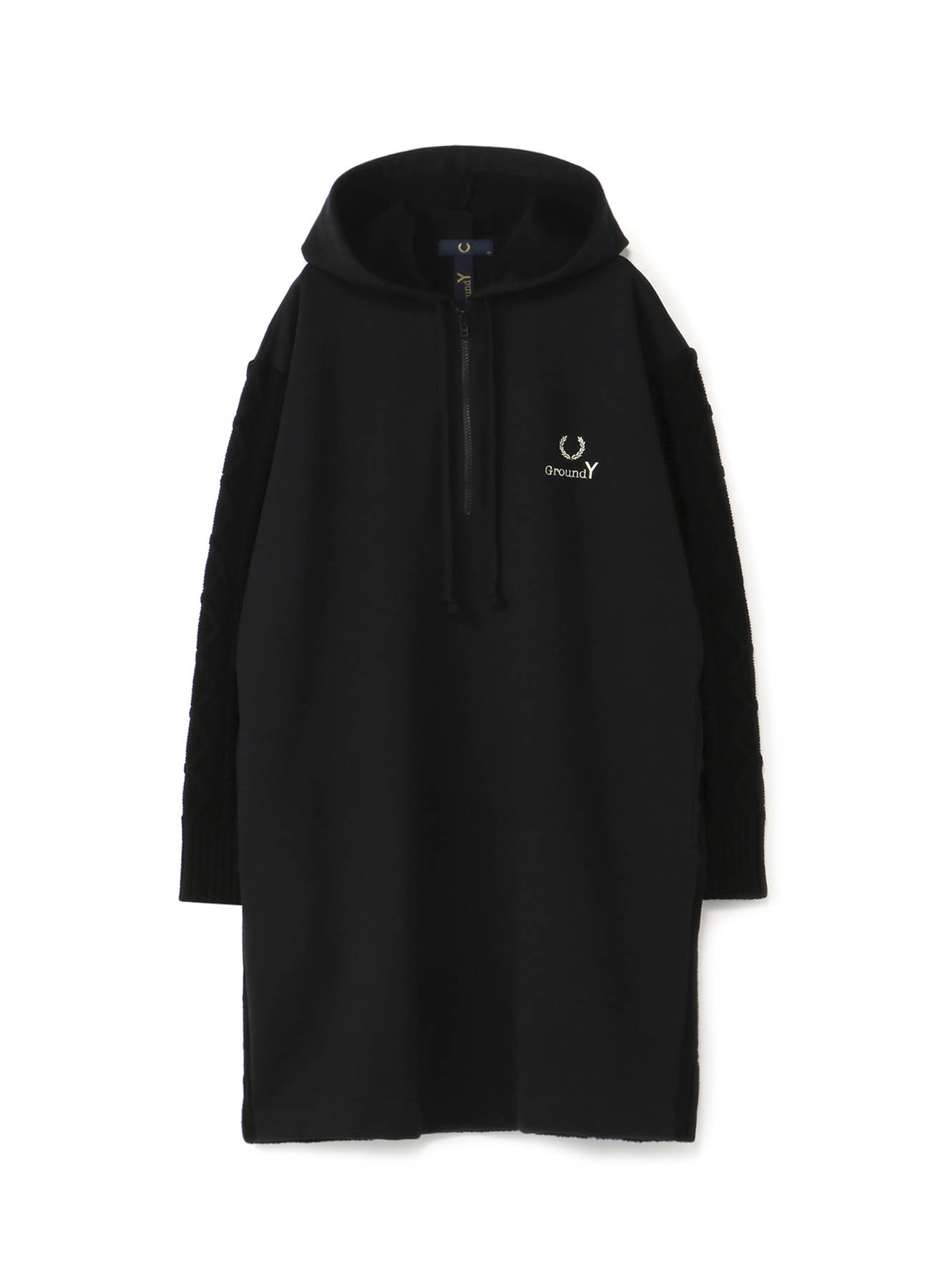 FRED PERRY collaboration ニット×裏毛 ロングパーカ(ウィメンズ)