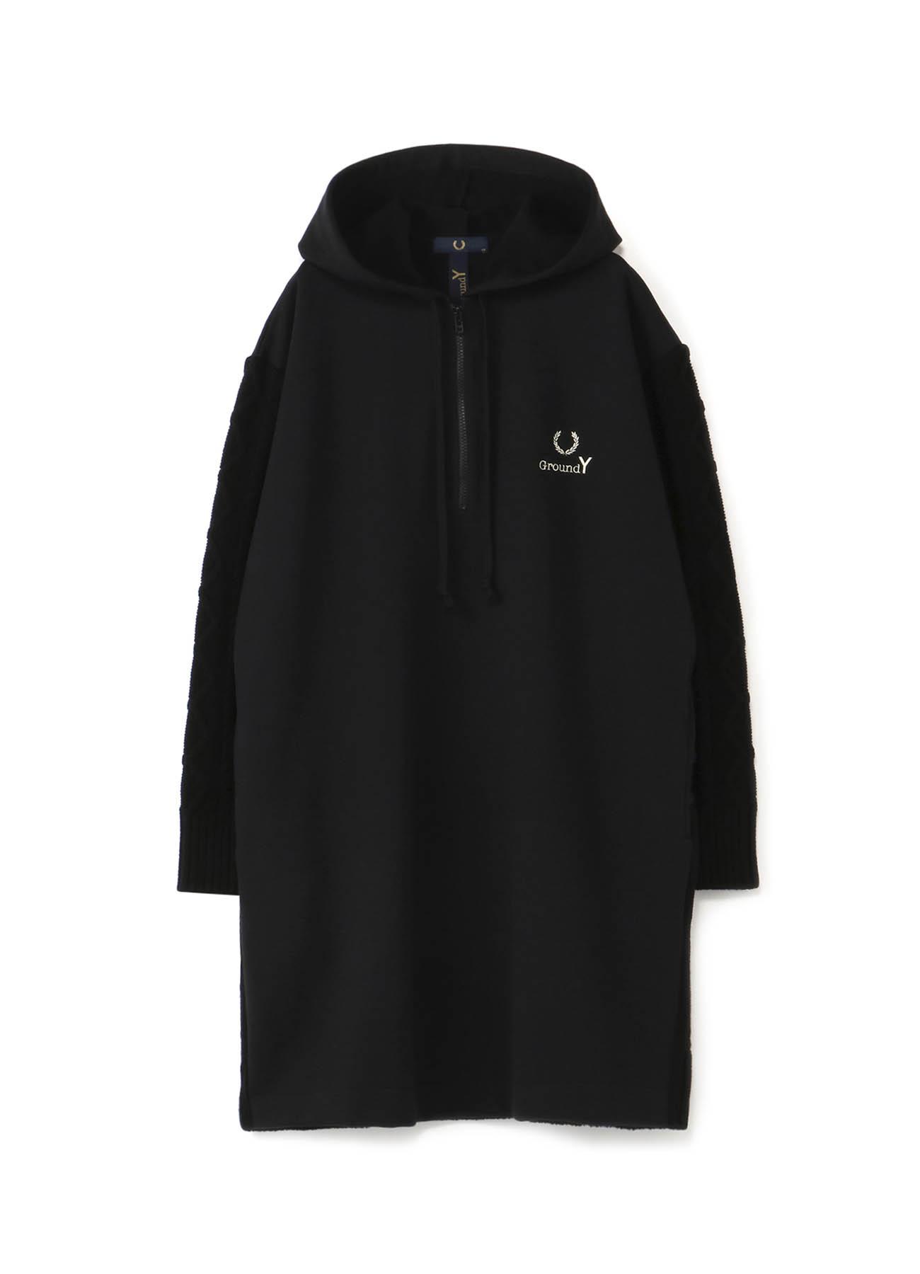 FRED PERRY合作针织x羊毛长款派克大衣(女士)