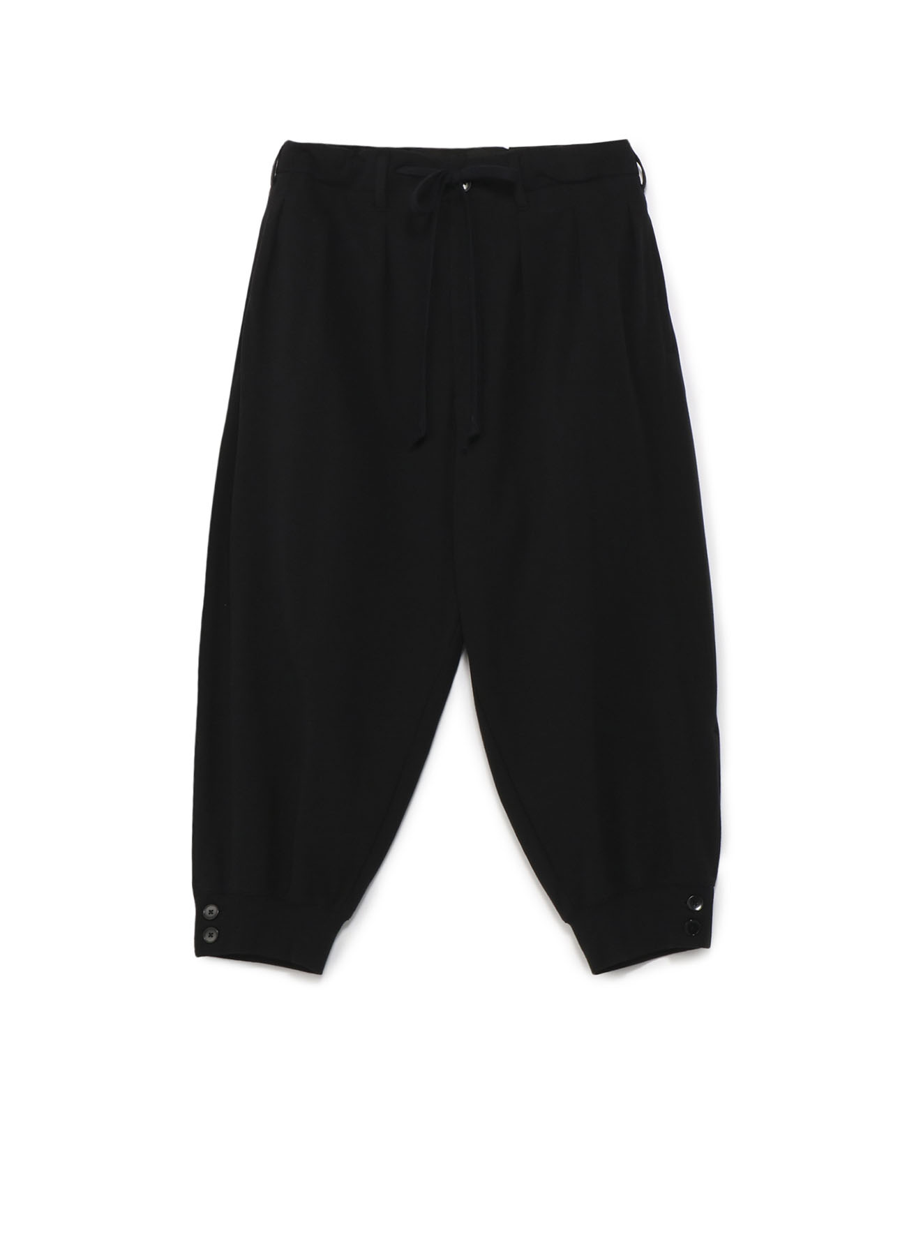 Mini Fleece Hem Rib Balloon Pants