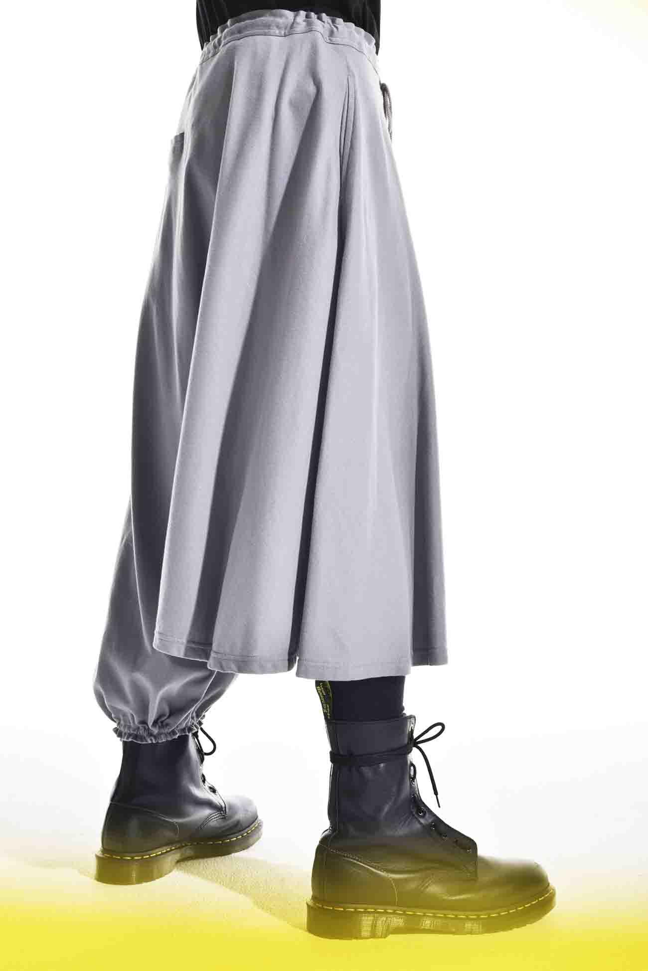 40/ Jersey Asymmetry Balloon Pants