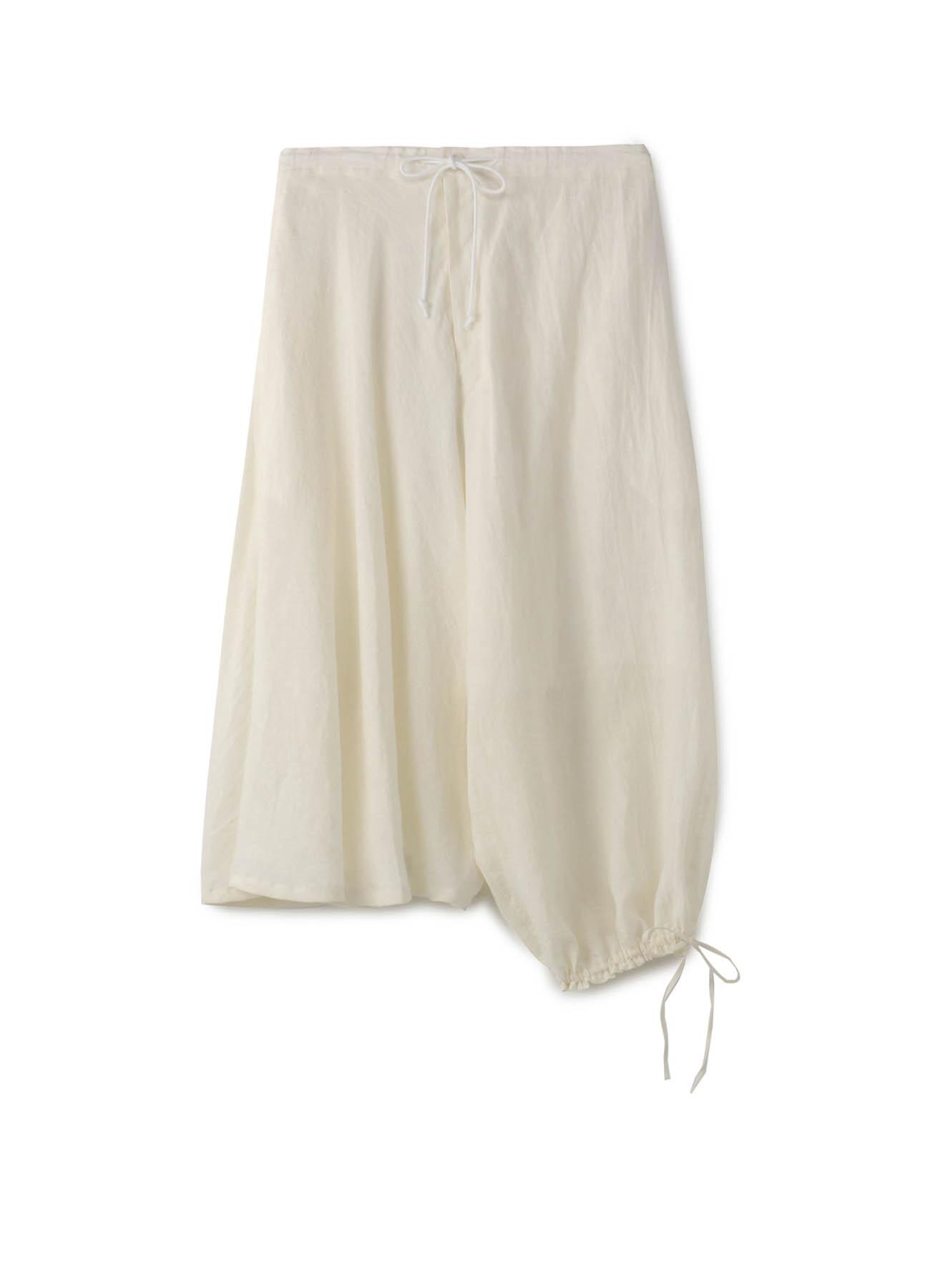 Linen Cross Asymmetry Balloon Pants