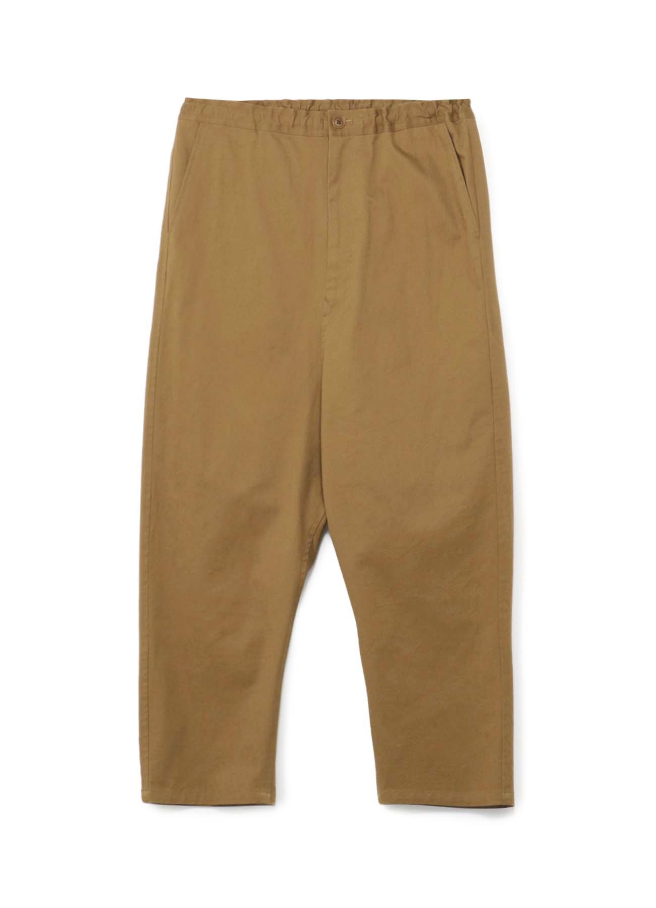 棉麻混纺哈伦直筒裤