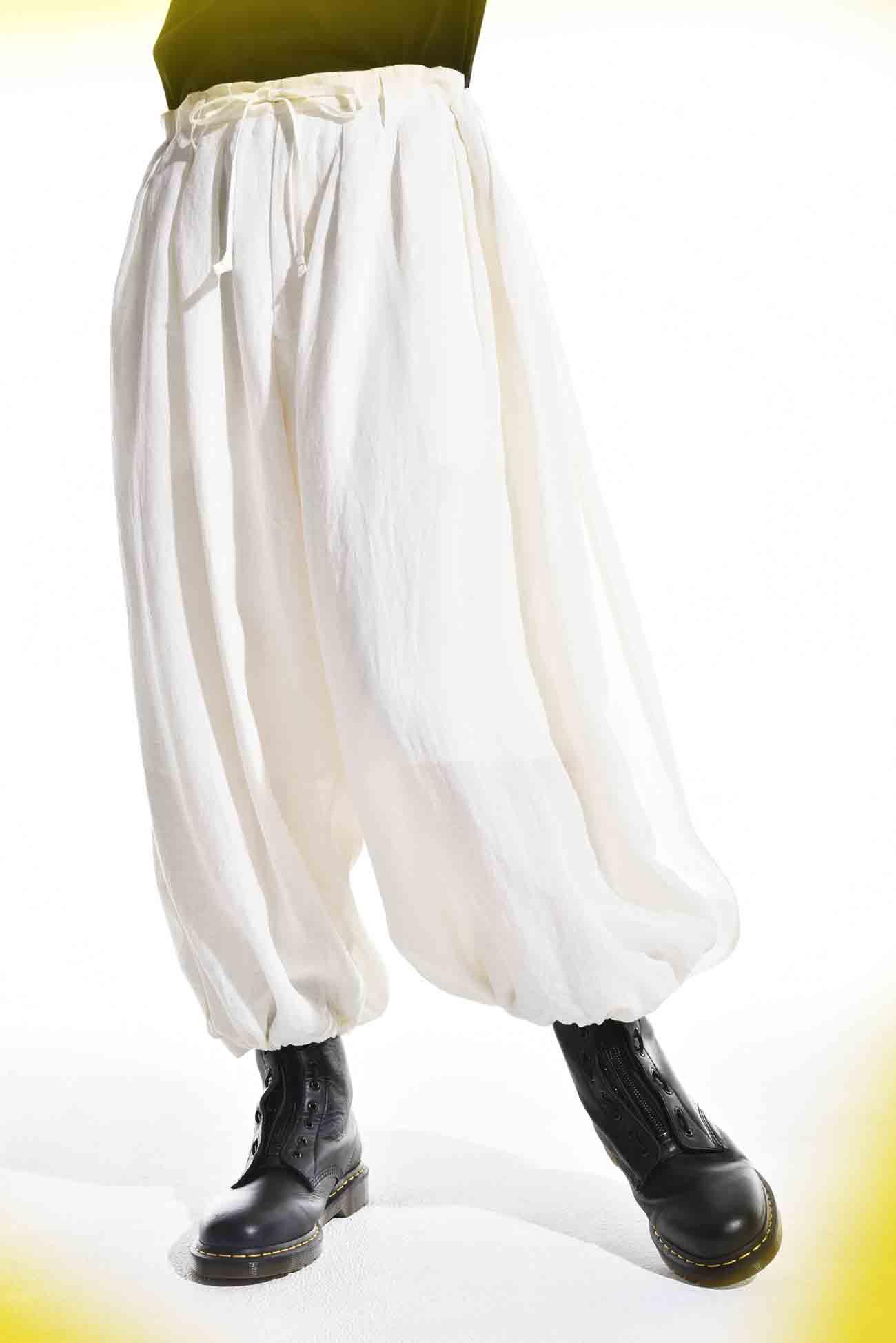 亚麻灯笼裤