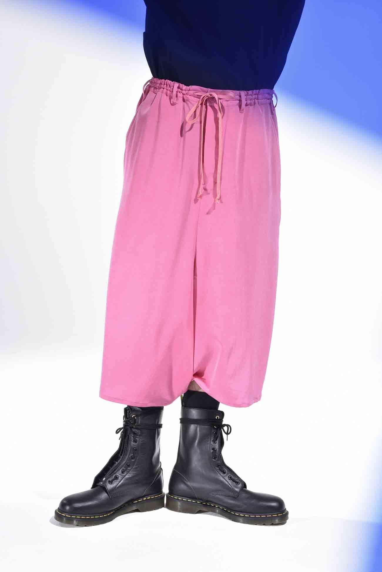 复古风情缺口宽裤