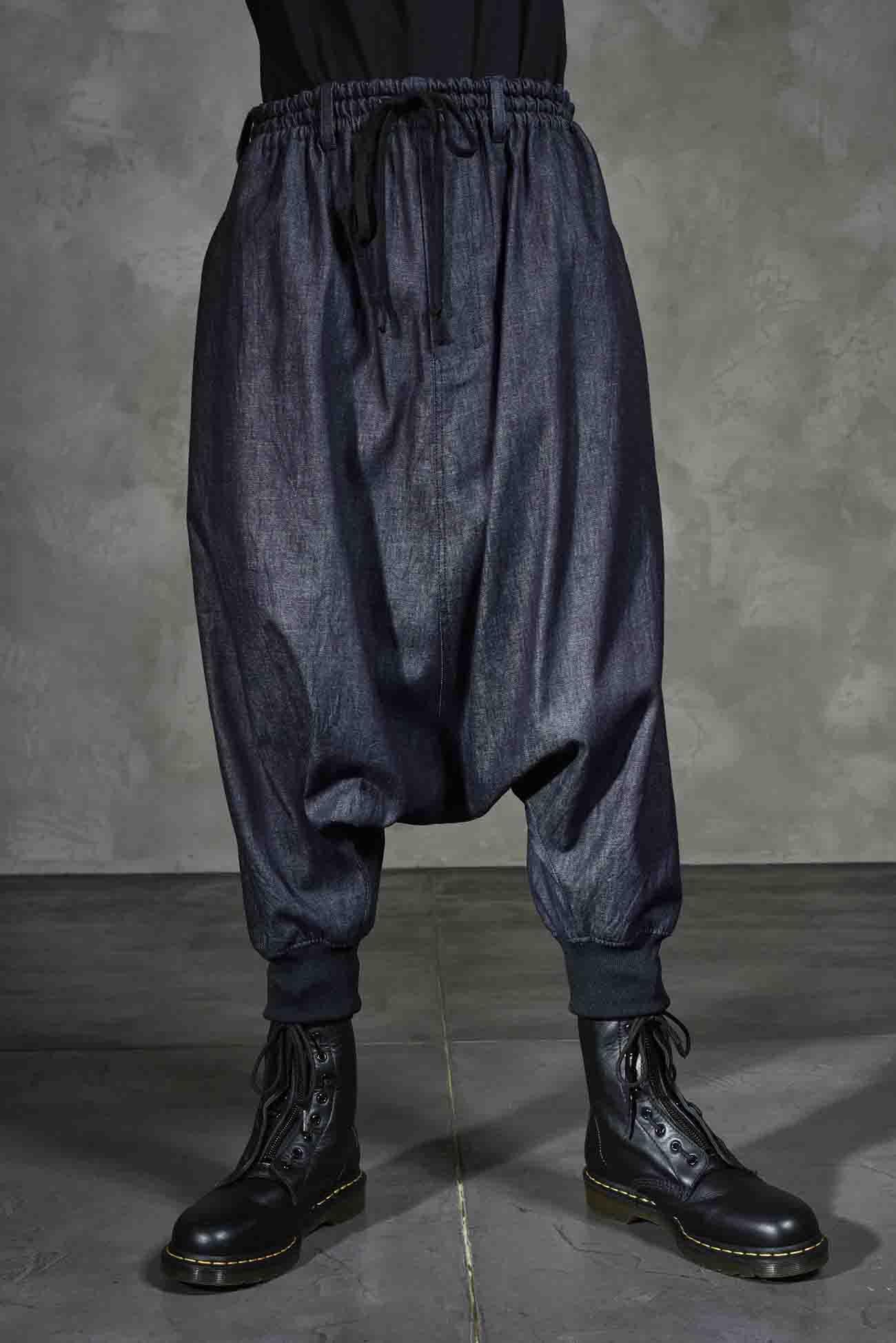 牛仔哈伦裤