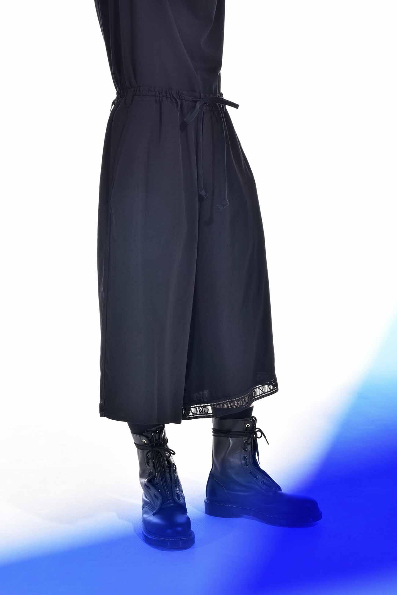 T /复古decyne原始胶带交叉高乔裤子