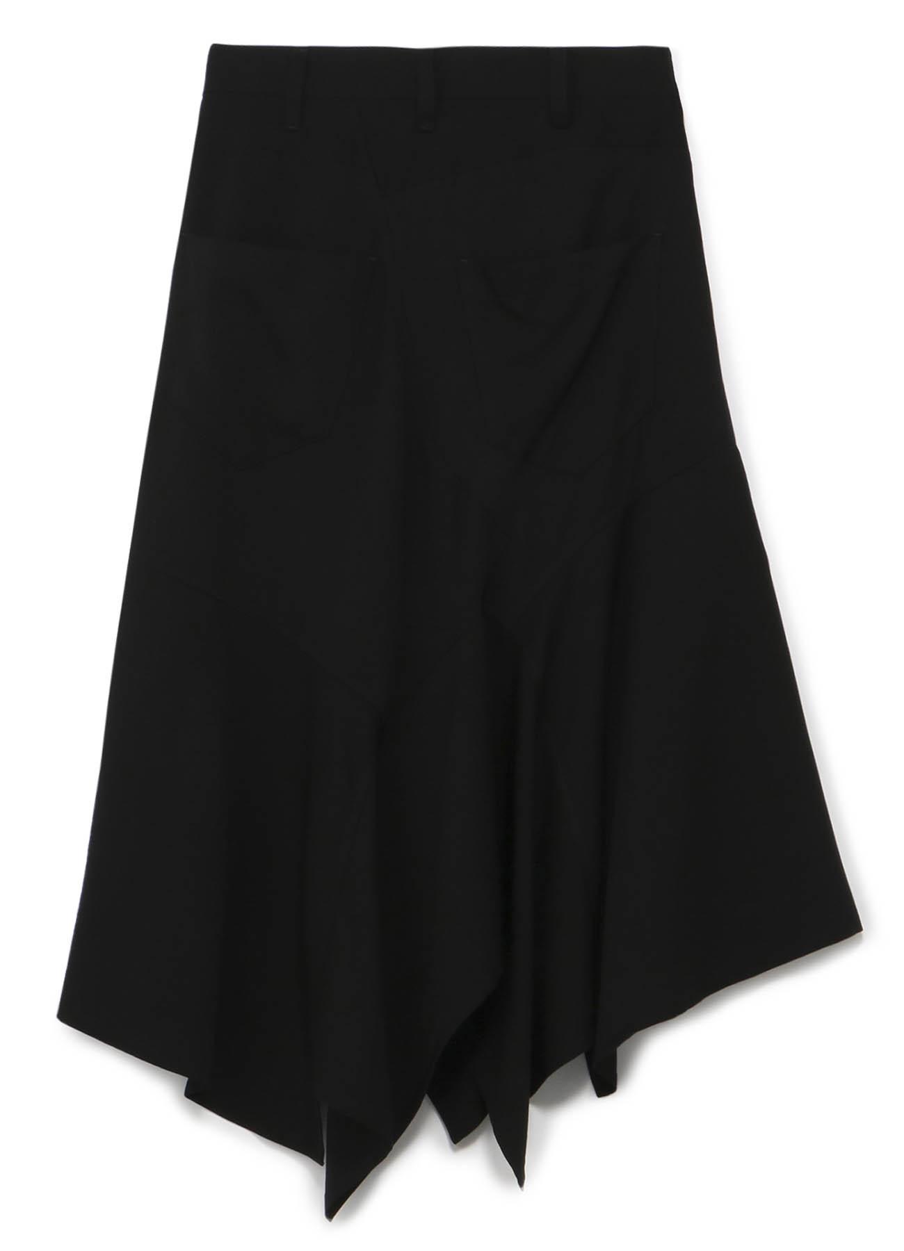 拼接不对称半身裙