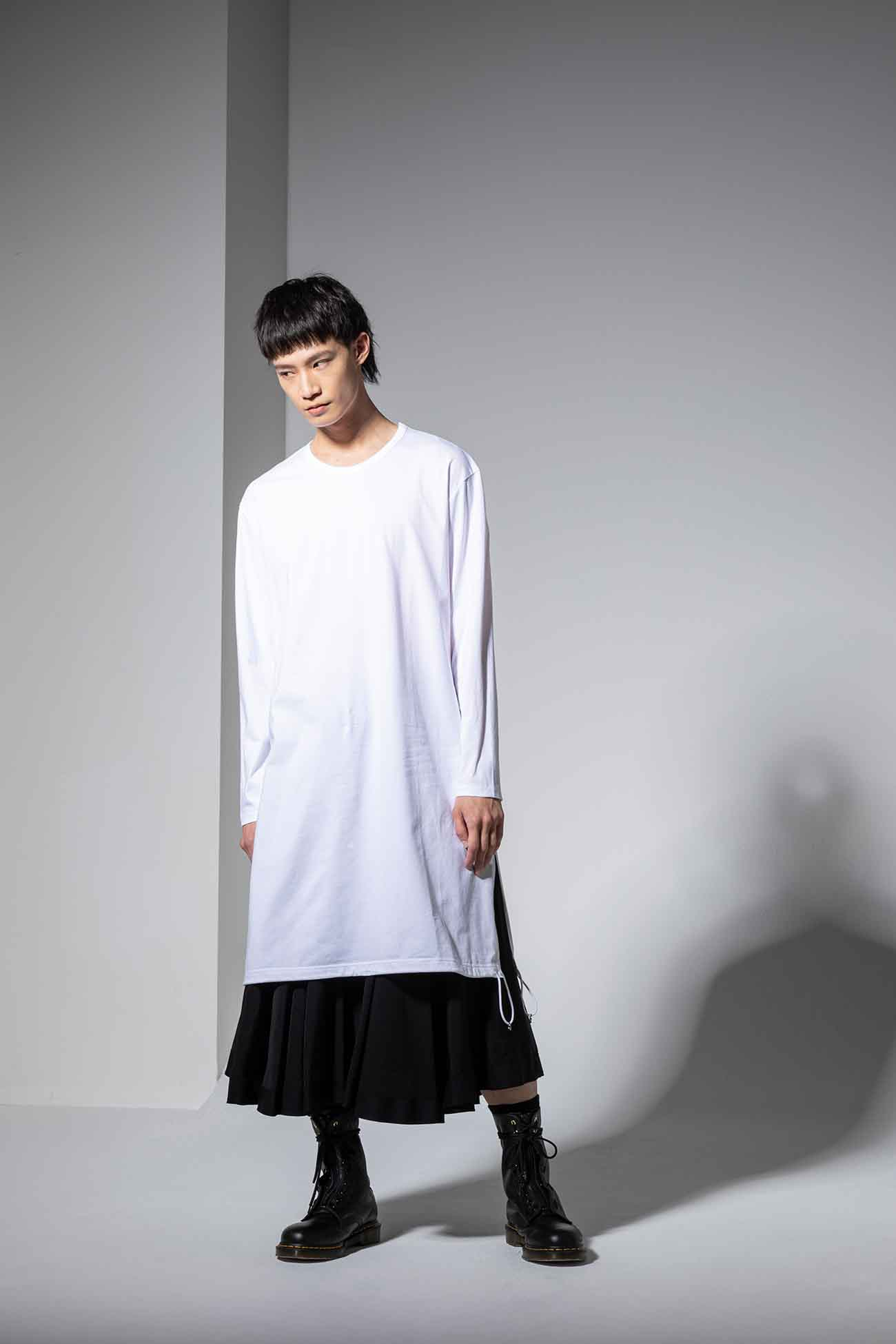 30/cotton Jersey A Tied Long Sleeves Long Cut Sew