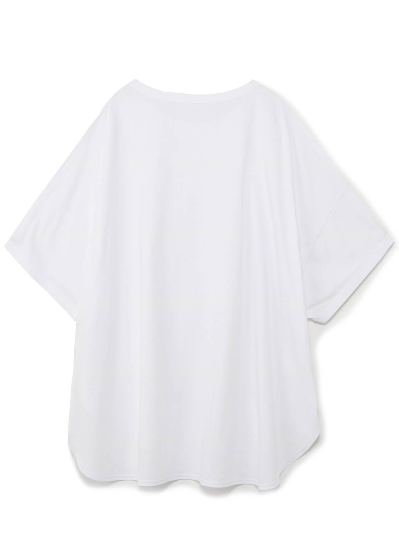 圆形下摆短袖T恤 · 宽松版
