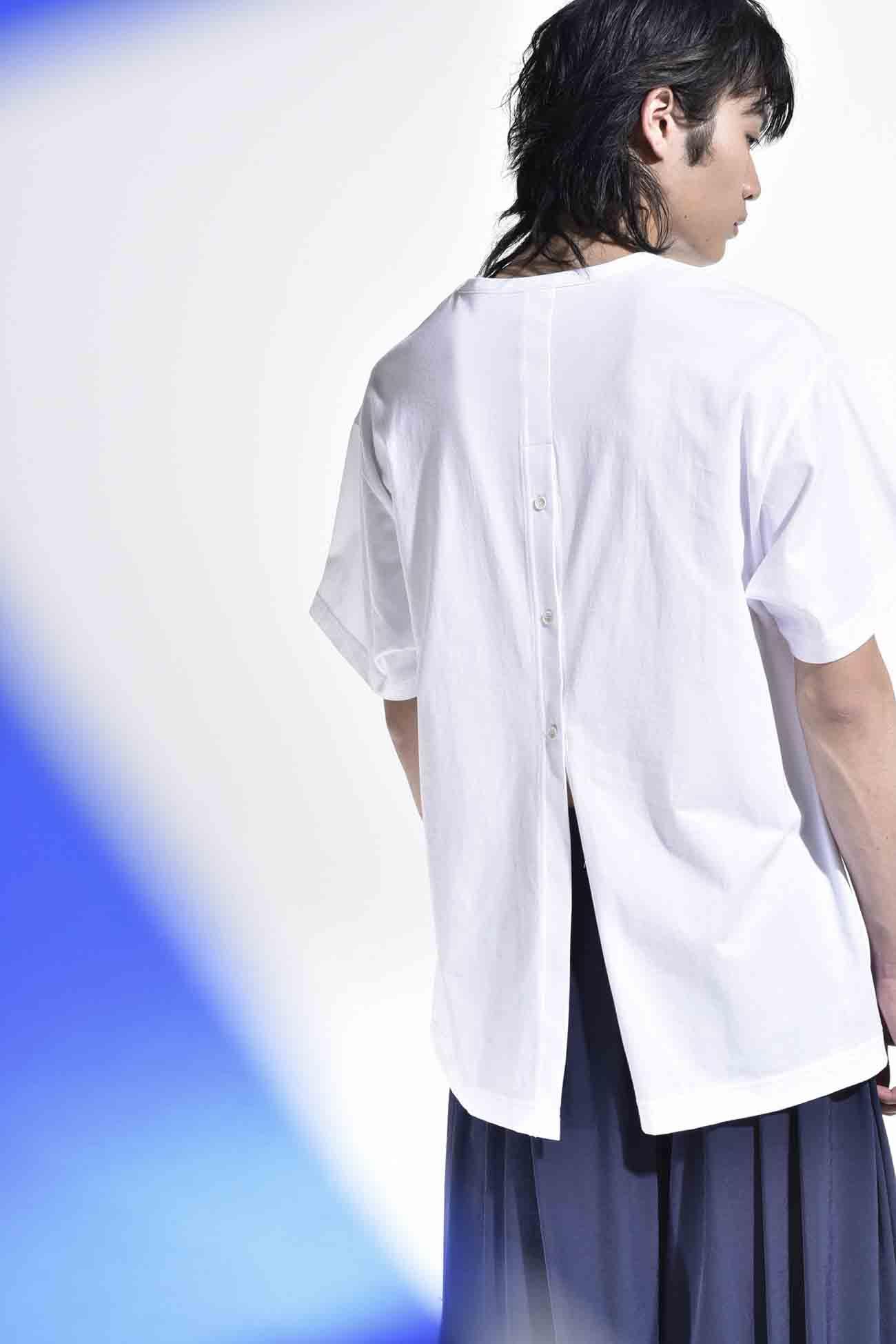30 /棉质平针织?后开叉短袖镂空缝制