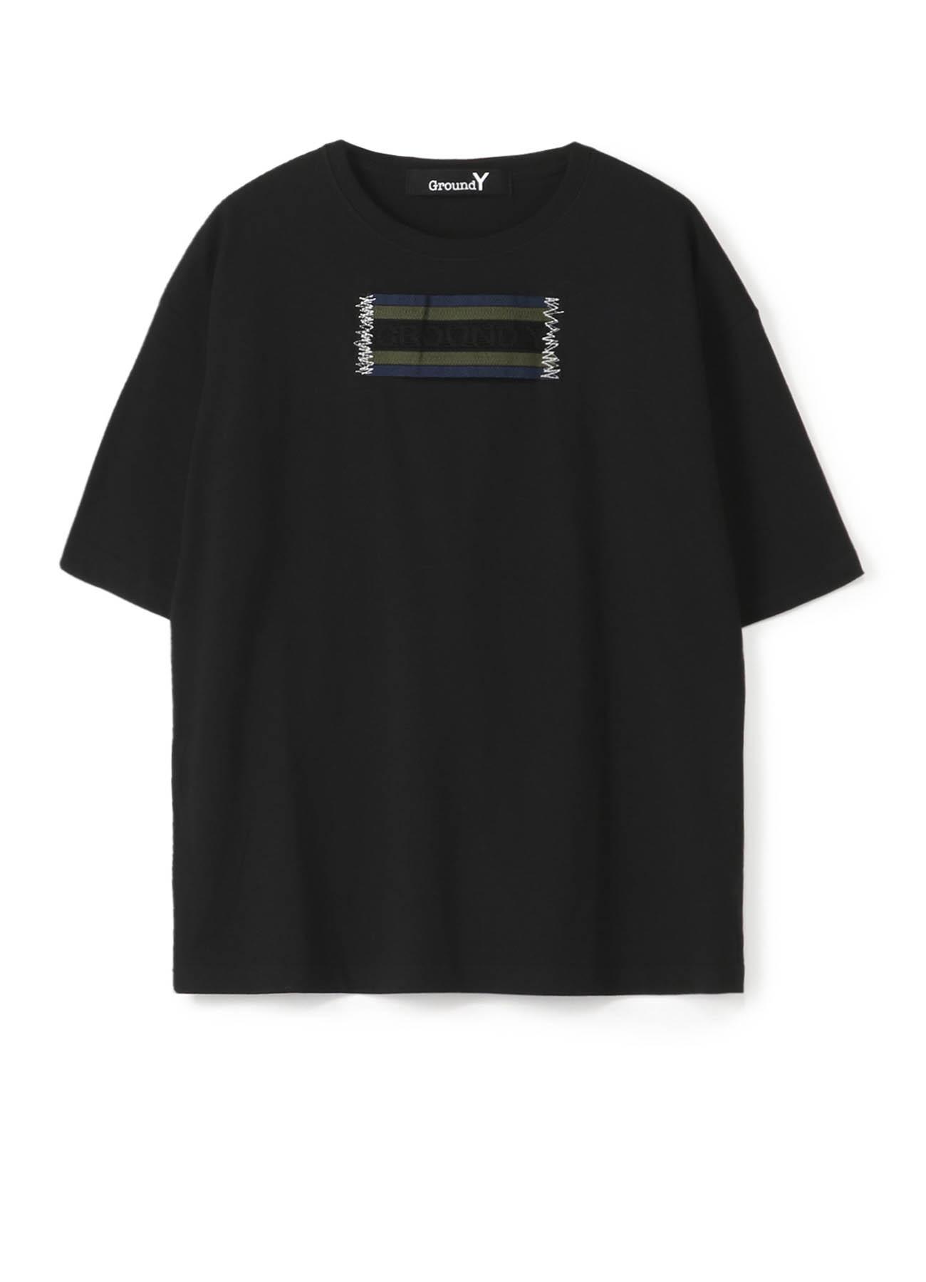 """""""胶带""""装饰宽松T恤-A"""