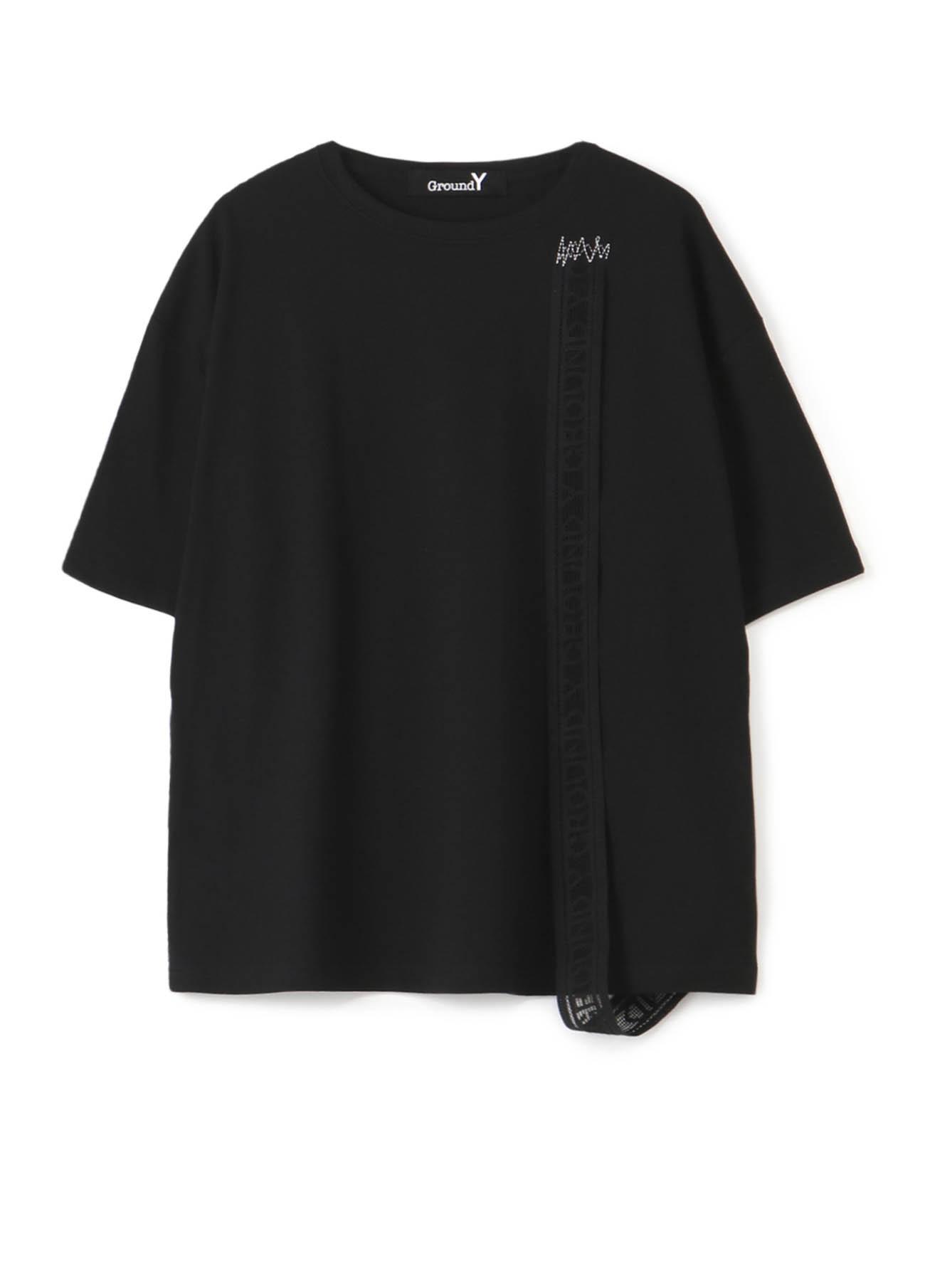 """""""胶带""""装饰宽松T恤-B"""