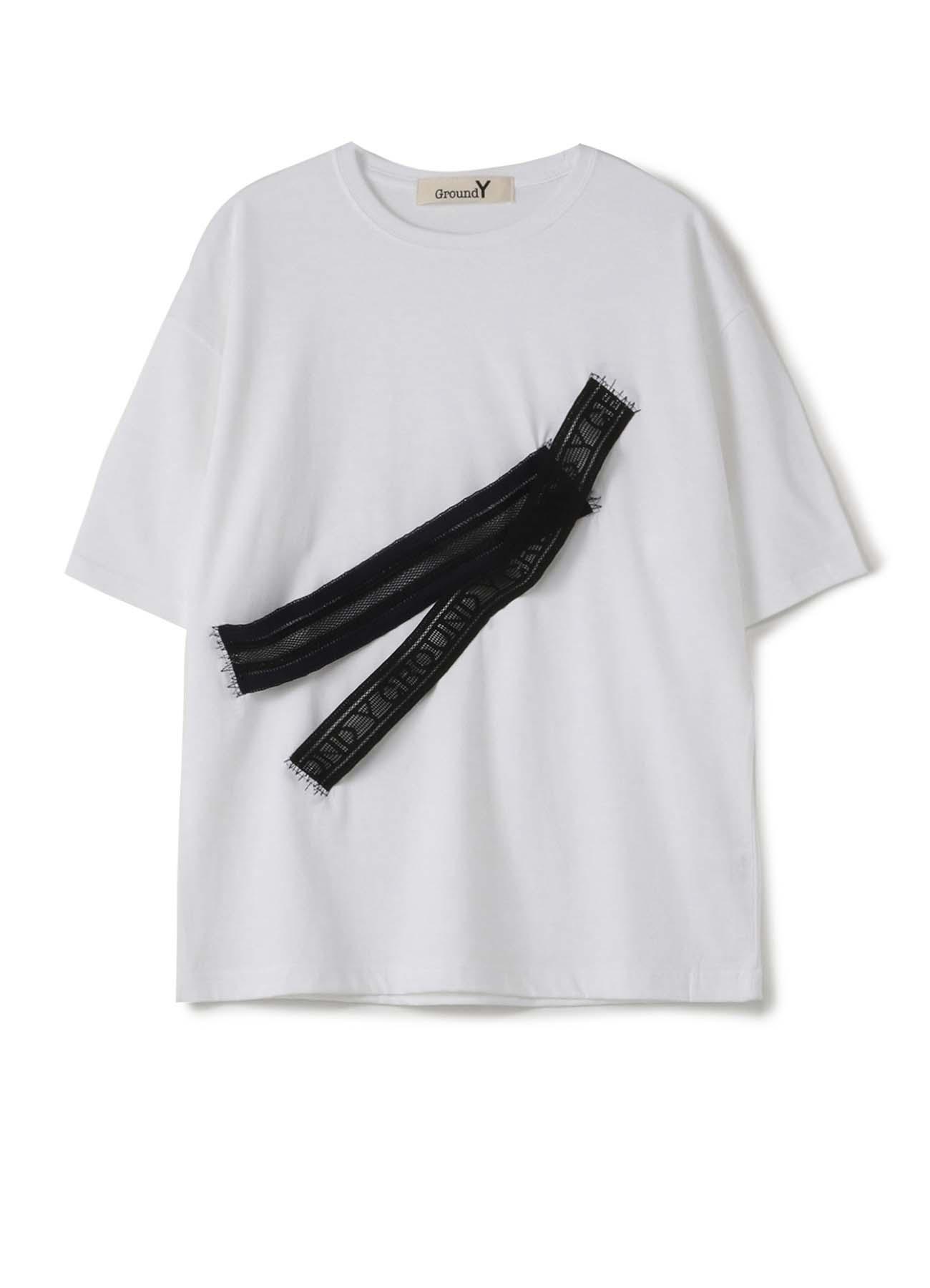 """""""胶带""""装饰宽松T恤-D"""