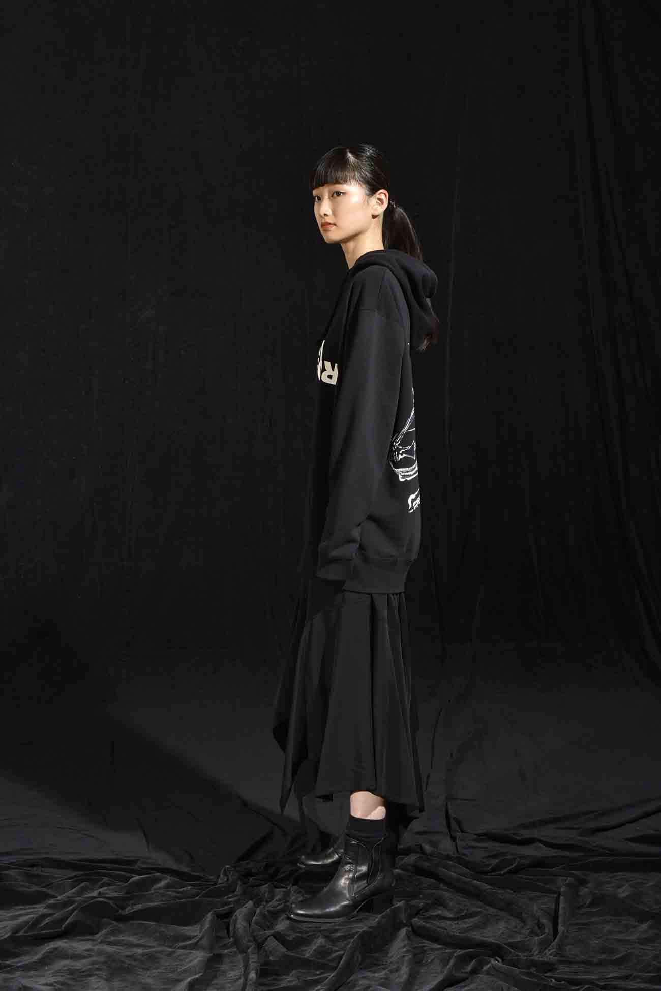 GroundY × 河锅晓斎 联名款帽衫