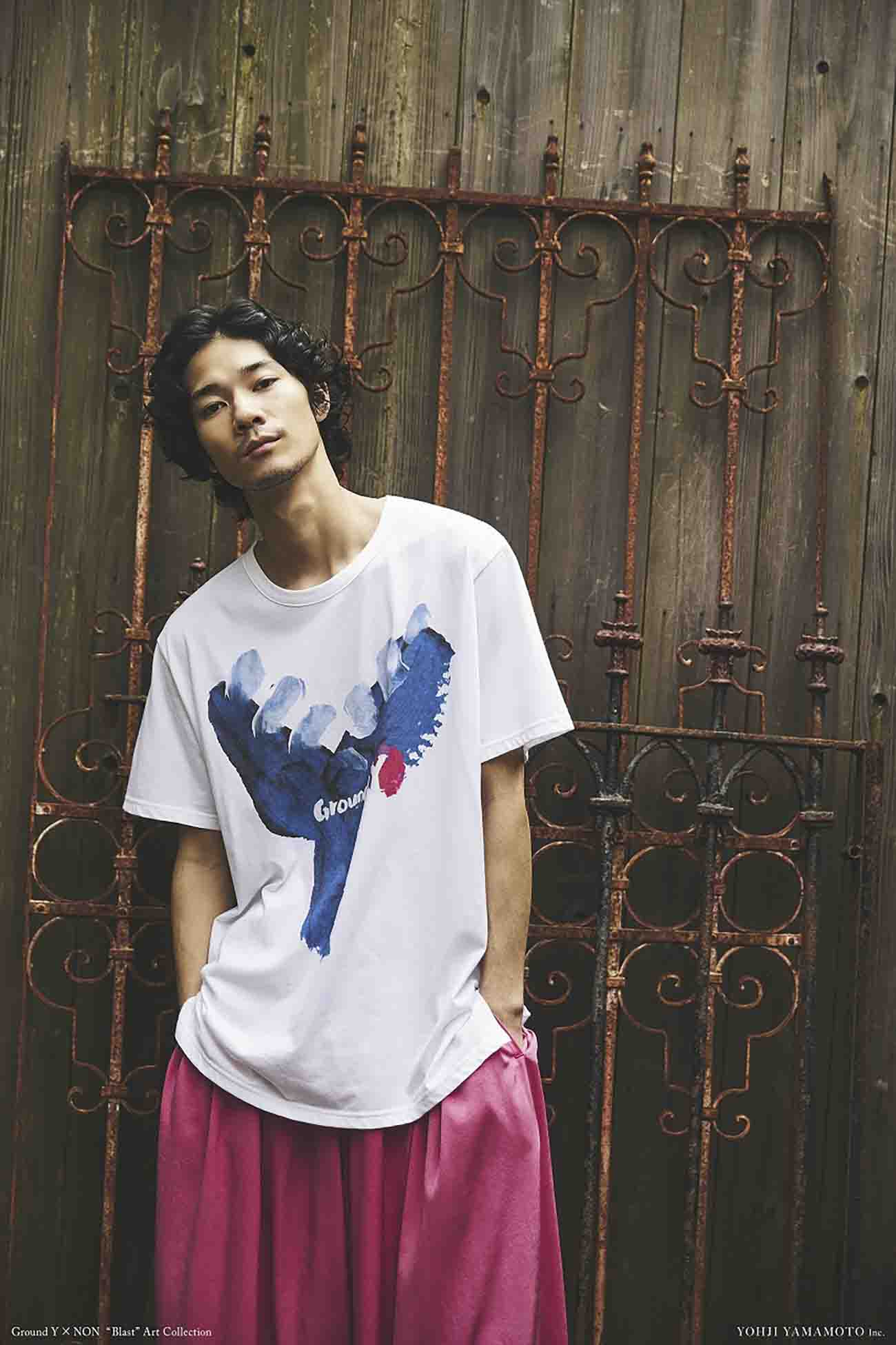 【Ground Y×NON Collaboration】Cotton Jersey Cut Sew Graphic C