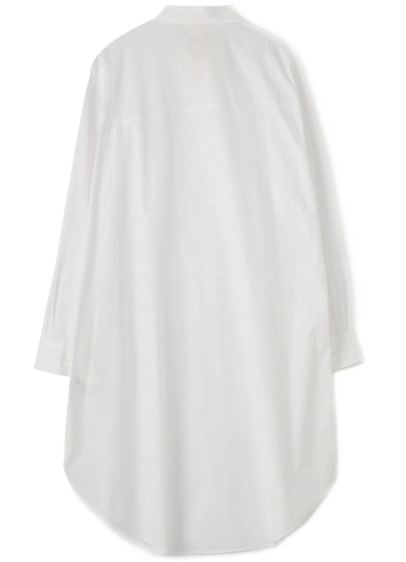 Cotton Broad Asymmetry Switching Shirt
