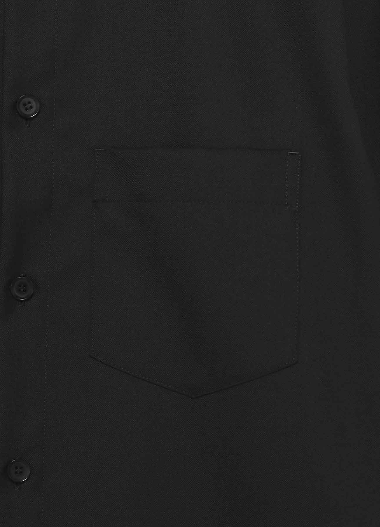 T/W Gabardine Zipper Collar Shirt