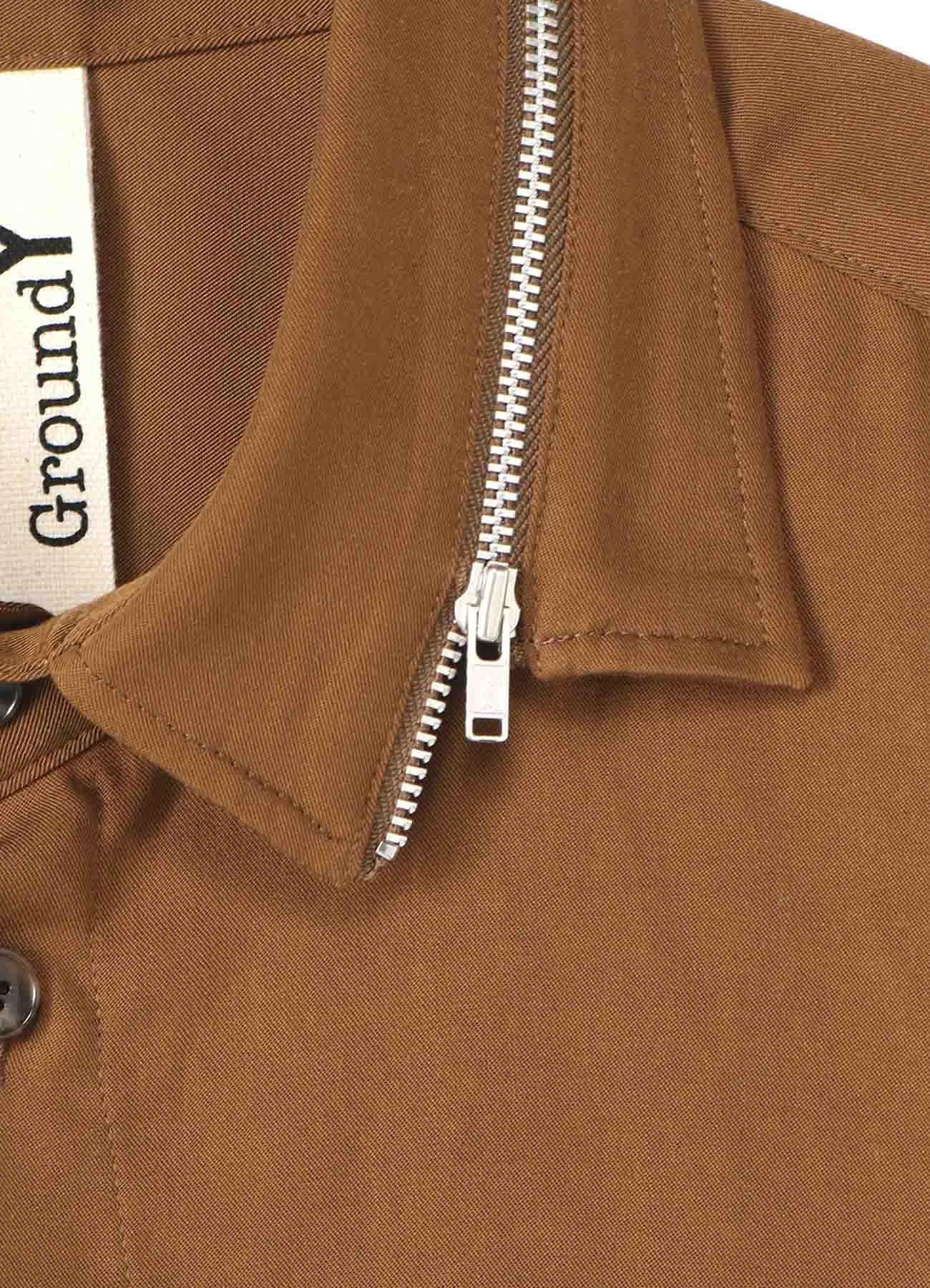 TE/Burberry Zipper Collar Shirt