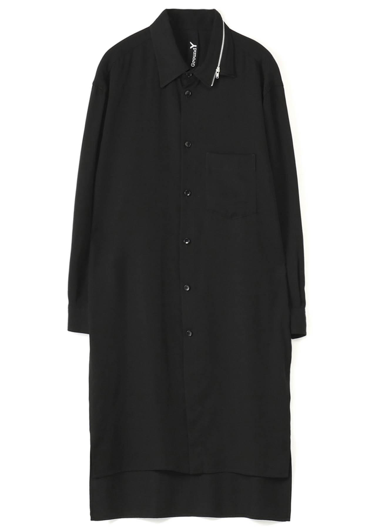 TE/Burberry Zipper Collar Shirt