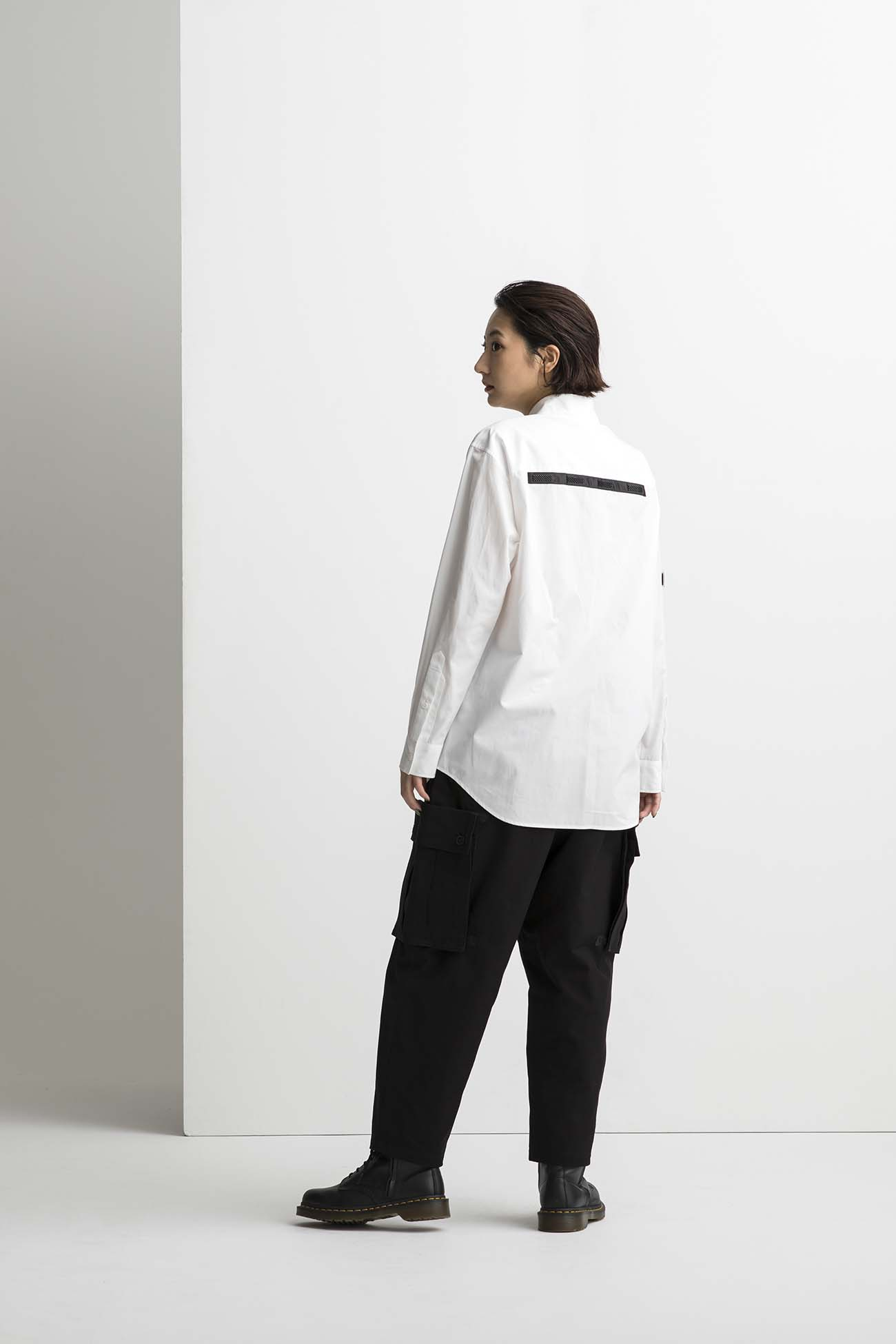 Cotton Broad Back Tape Shirt