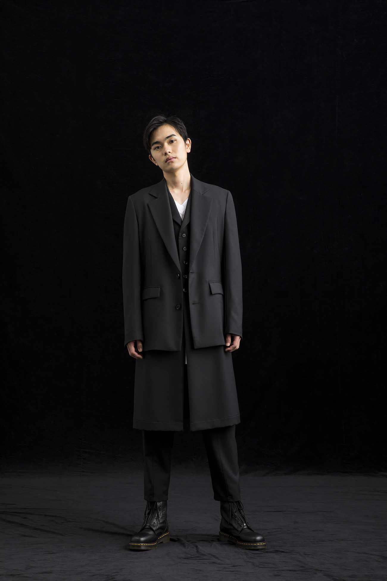 T/W Gabardine Single Long Vest