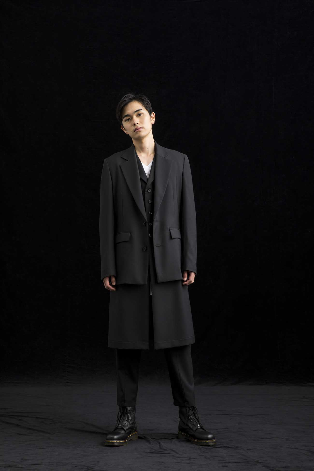 T/W Gabardine Two Buttons Single Jacket