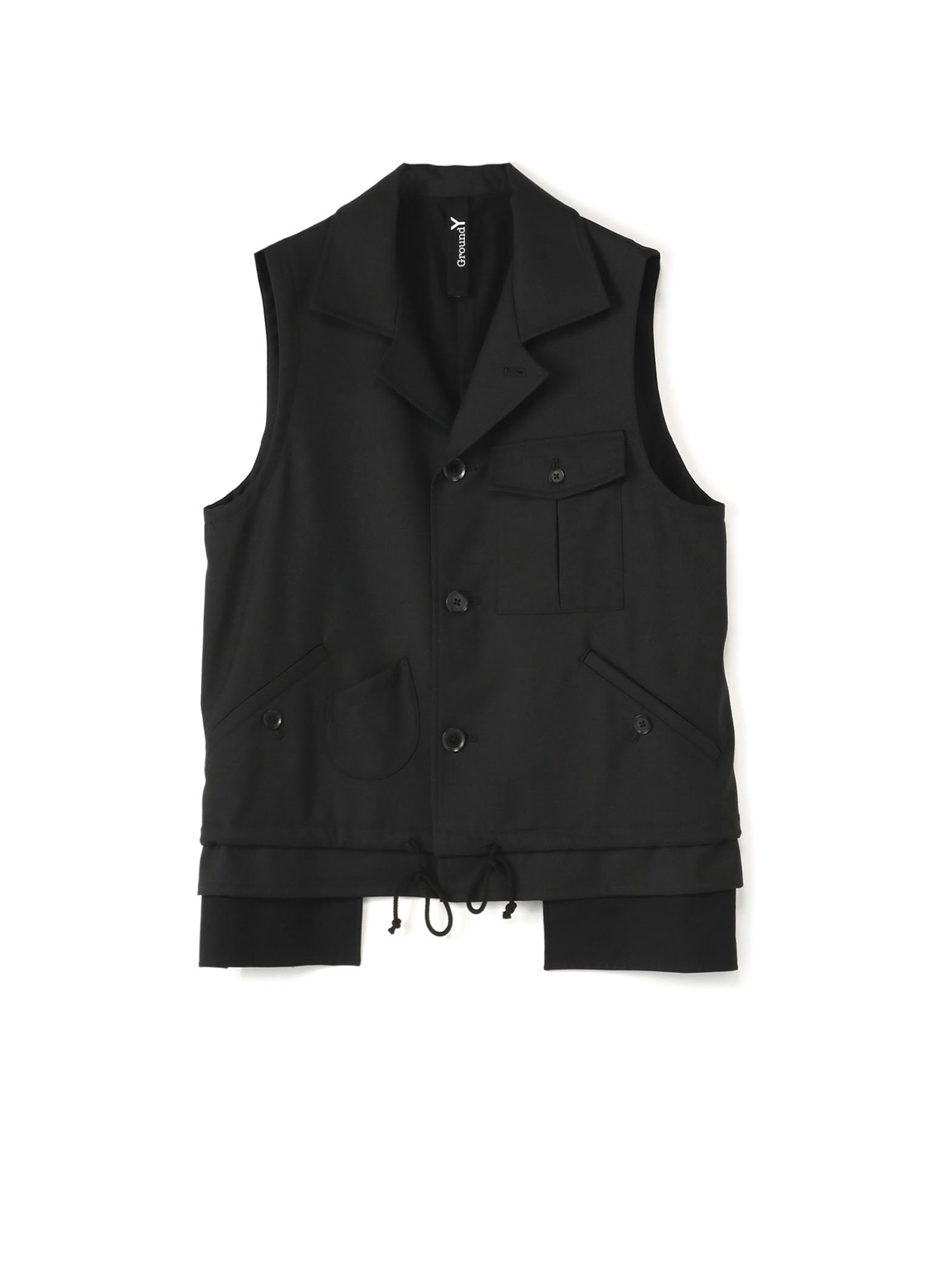 T/W  Gabardine Sleeveless Work Jacket